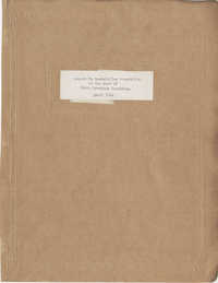Folder 13: Report to Rockefeller Foundation