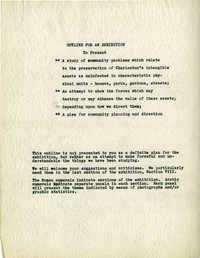 Folder 29: Exhibit Layout and Description