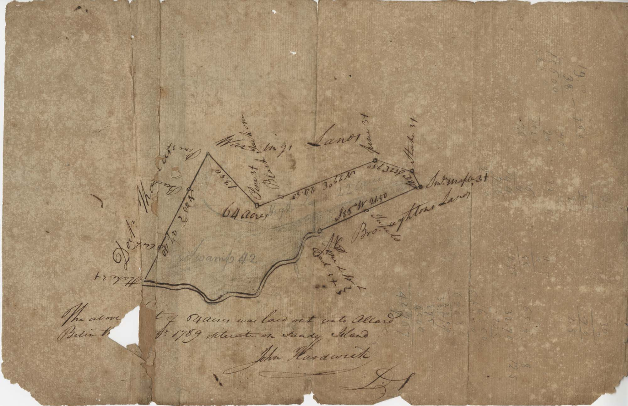 Sandy Island Plat 1789