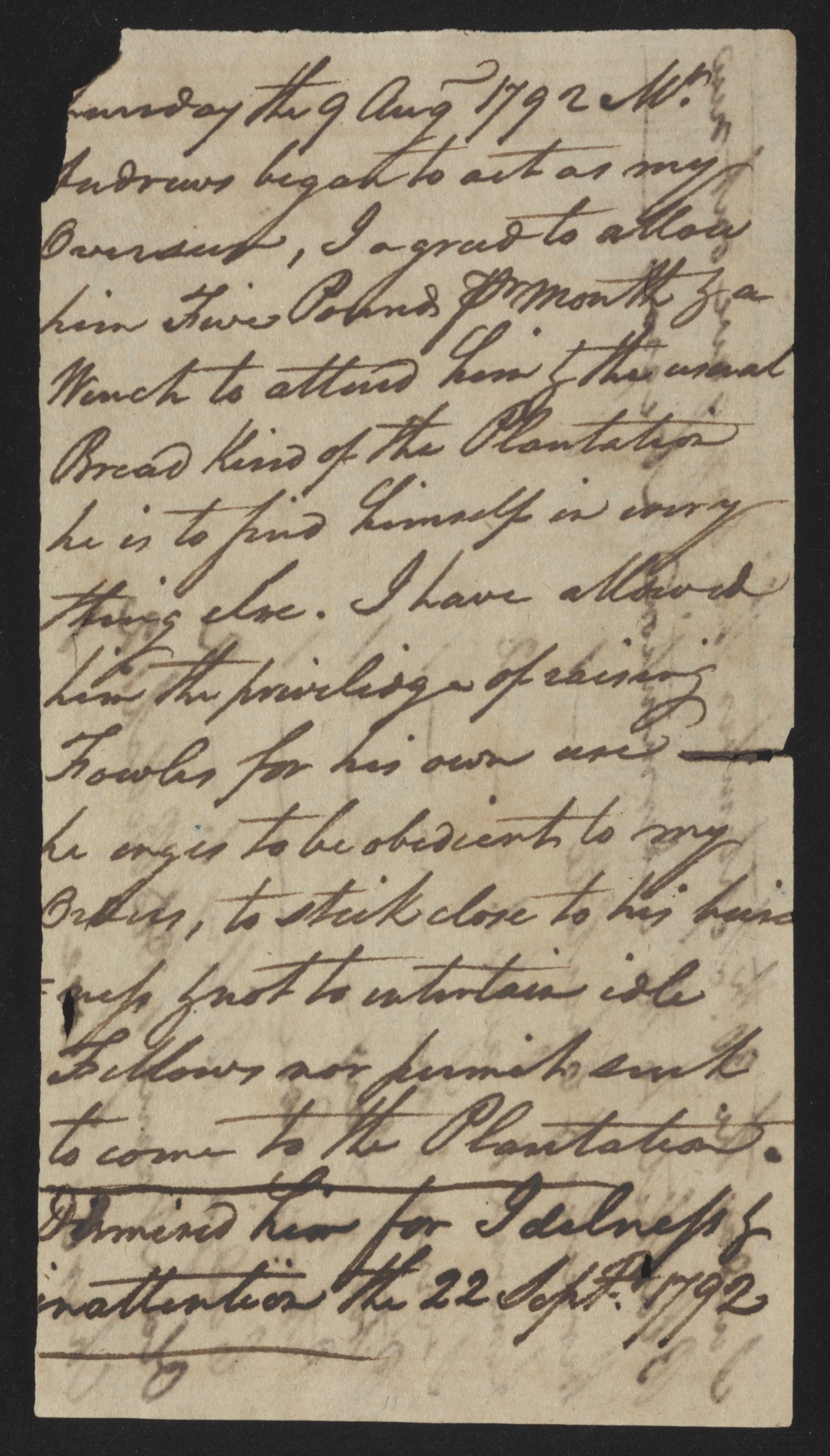Sandy Island Plantation Journal, Volume 1, 1792, Page 20