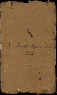 Newton Plantation Report Book 1868