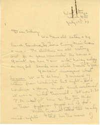 Letter from Gertrude Sanford Legendre, July 17, 1943