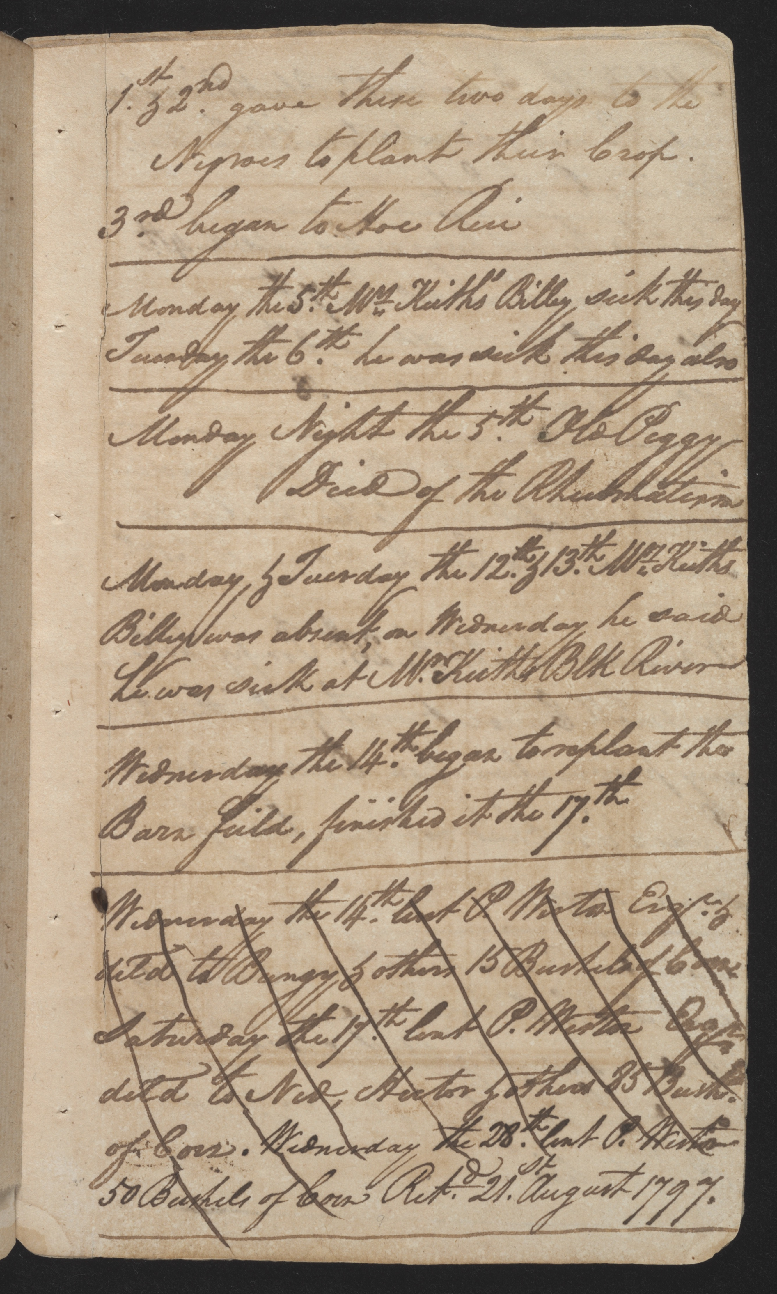 Sandy Island Plantation Journal, Volume 2, 1797, Page 16