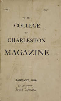College of Charleston Magazine, 1898