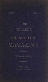 College of Charleston Magazine, 1898-1899