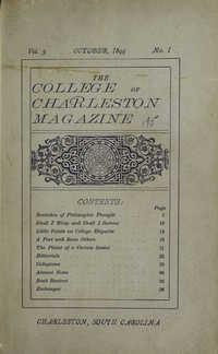 College of Charleston Magazine, 1899-1900