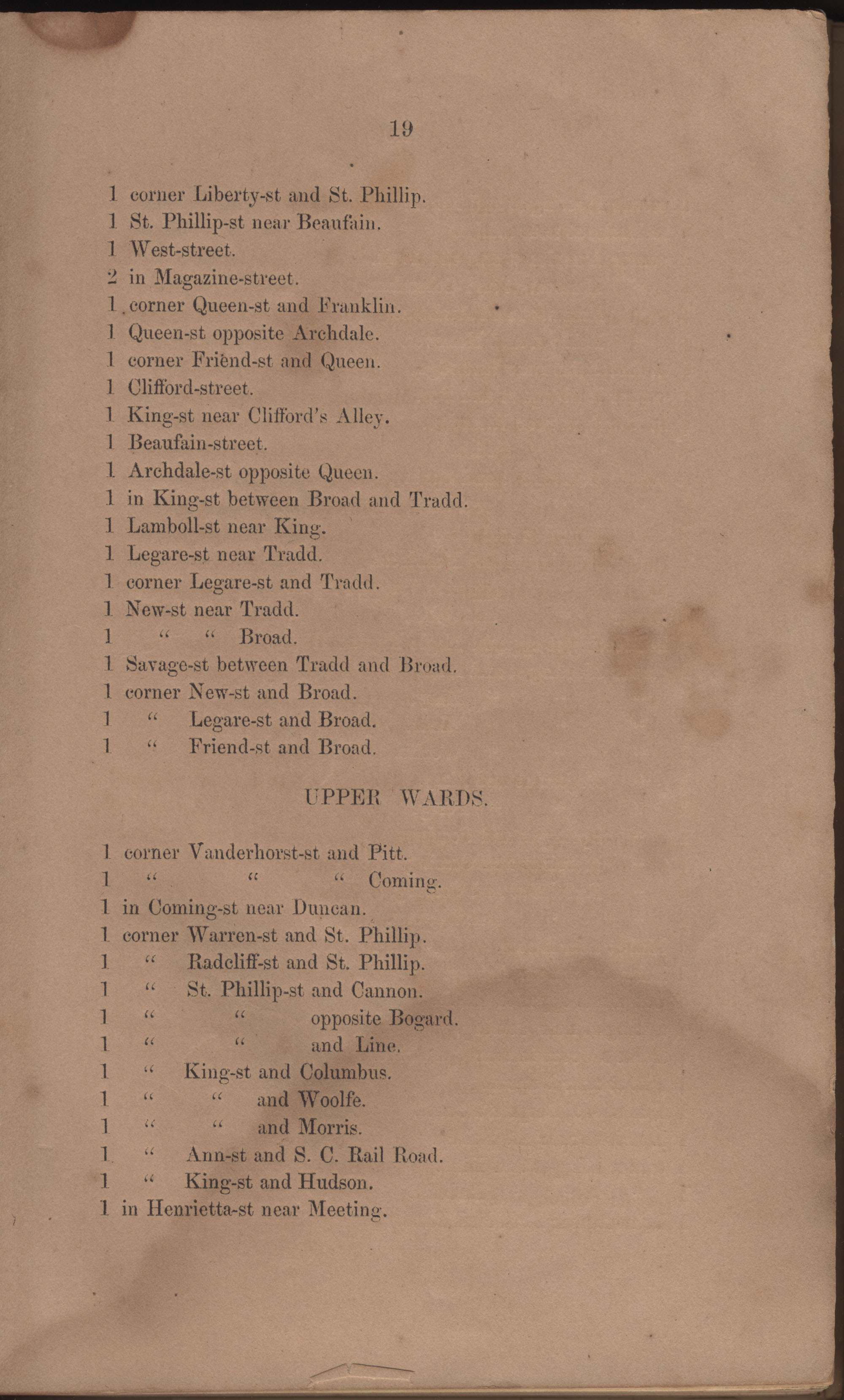 Annual Report of the Chief of the Fire Department of the City of Charleston, page 17