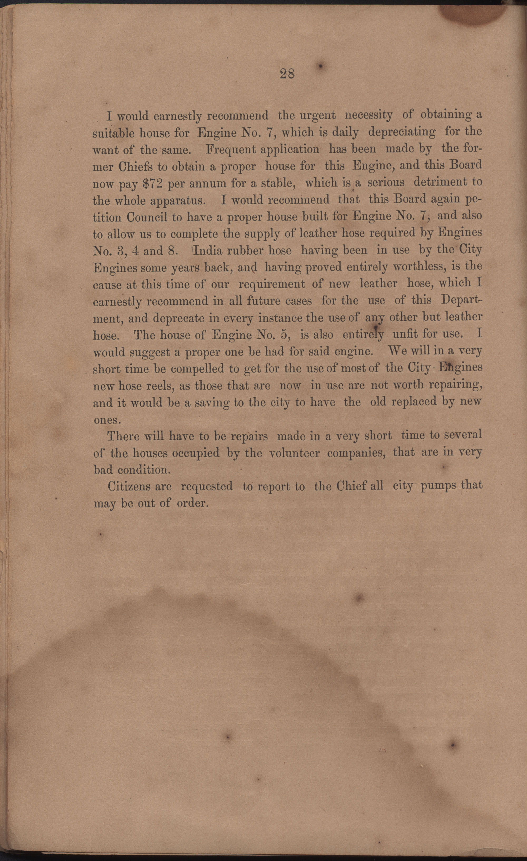 Annual Report of the Chief of the Fire Department of the City of Charleston, page 26