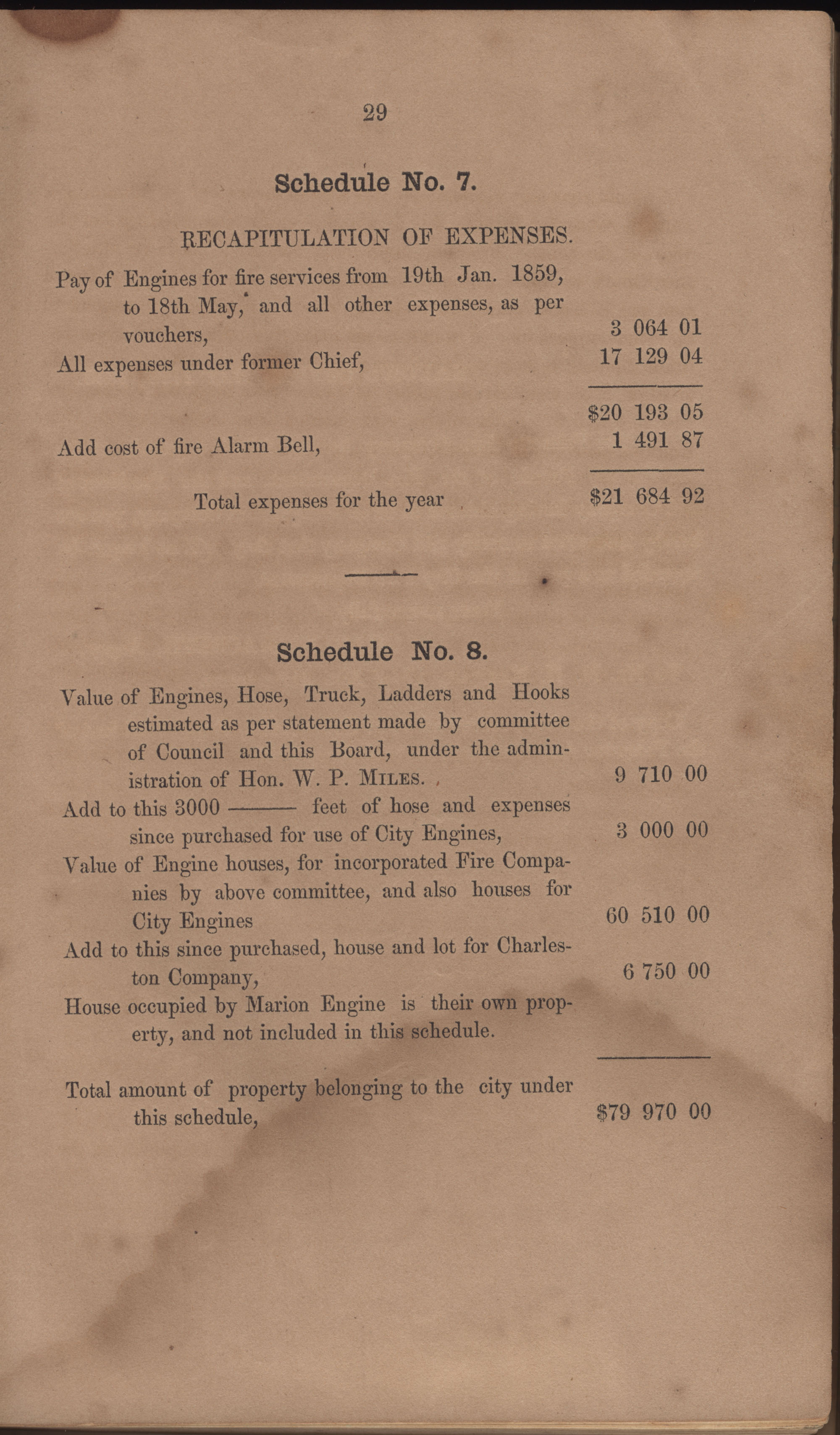 Annual Report of the Chief of the Fire Department of the City of Charleston, page 27