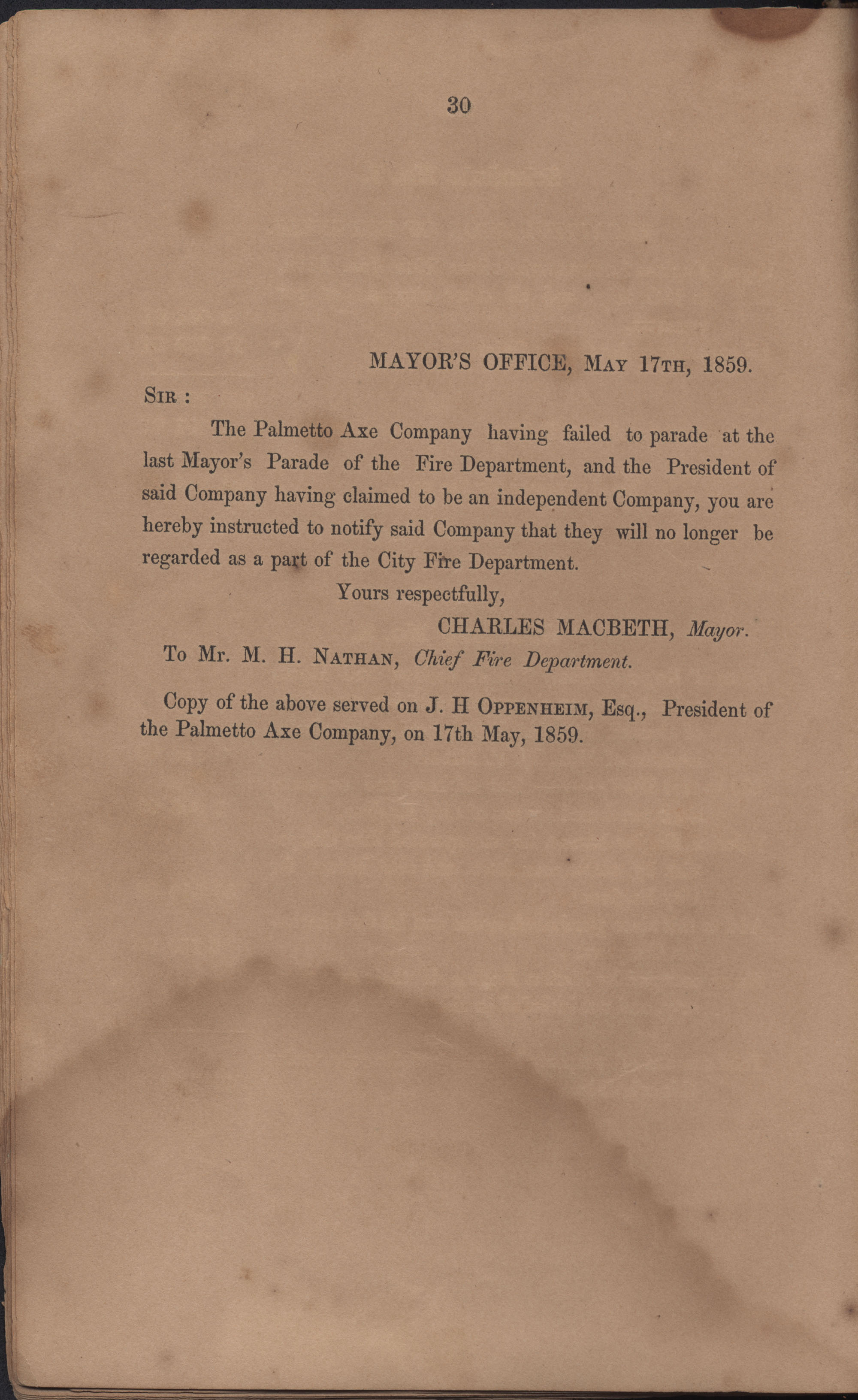 Annual Report of the Chief of the Fire Department of the City of Charleston, page 28