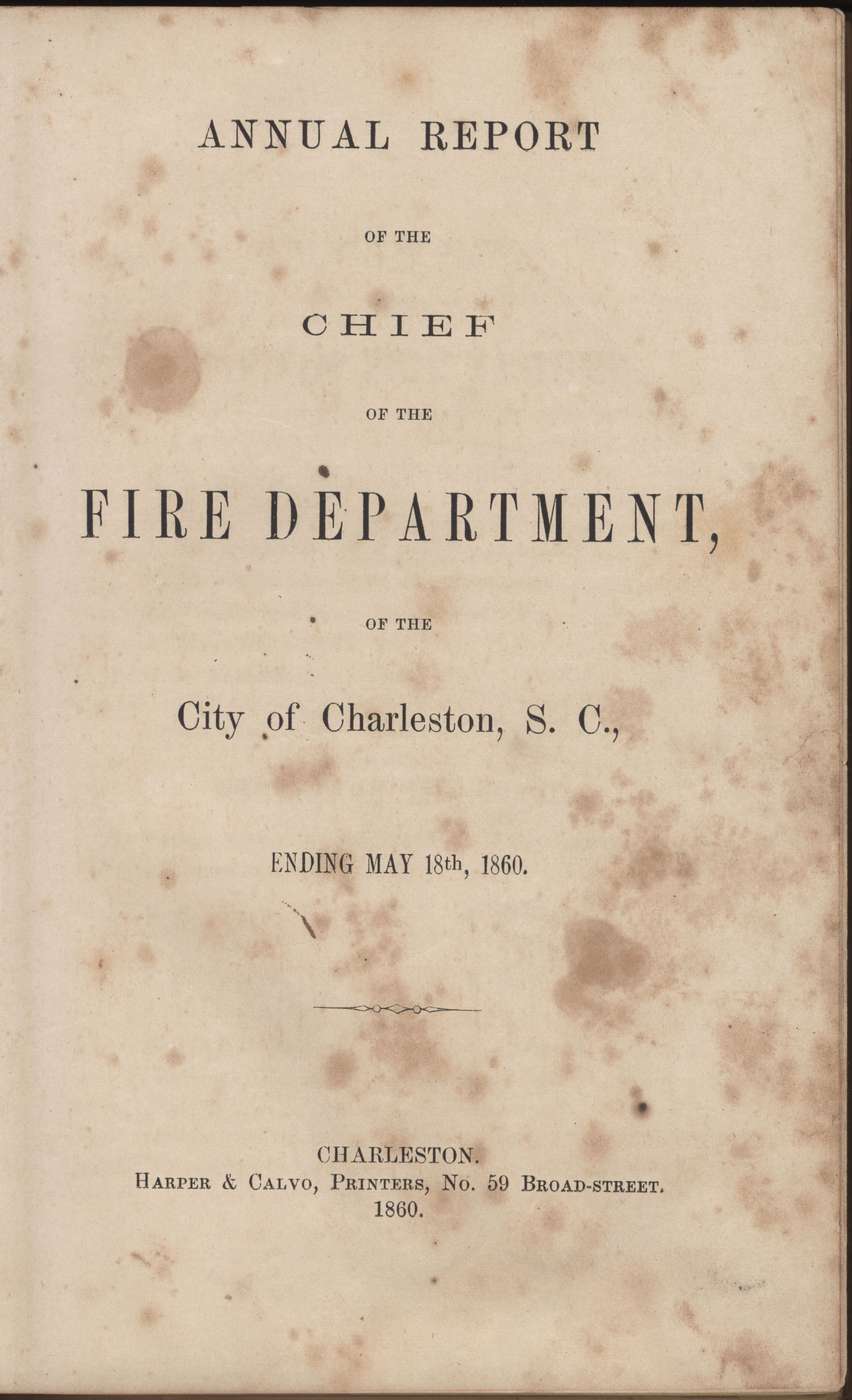 Annual Report of the Chief of the Fire Department of the City of Charleston, page 29