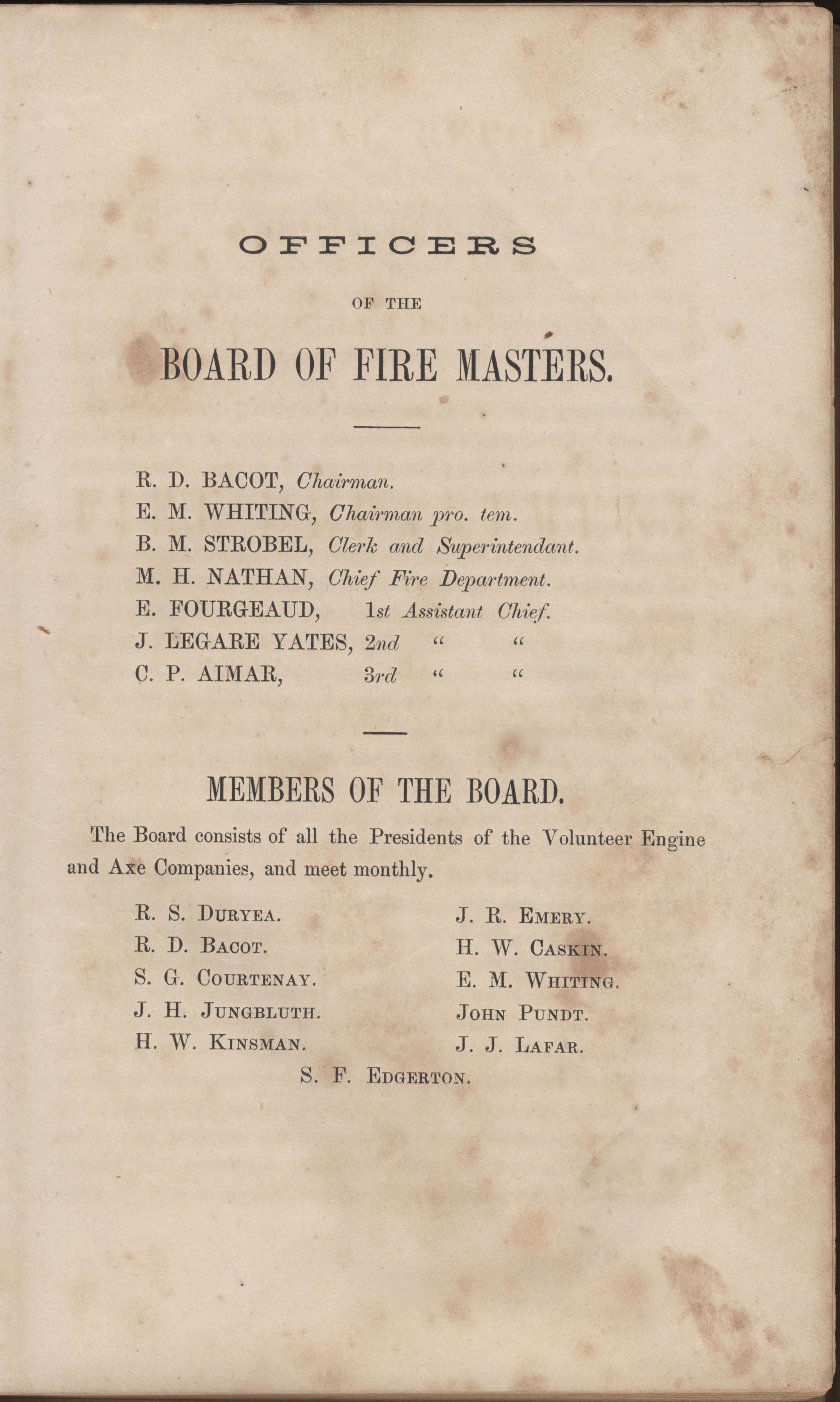 Annual Report of the Chief of the Fire Department of the City of Charleston, page 30