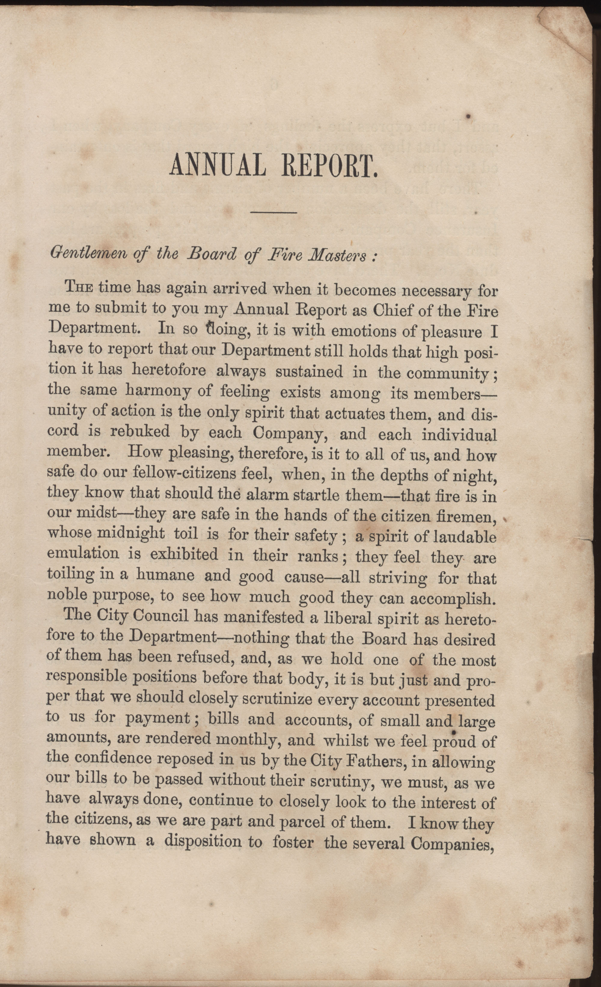Annual Report of the Chief of the Fire Department of the City of Charleston, page 31