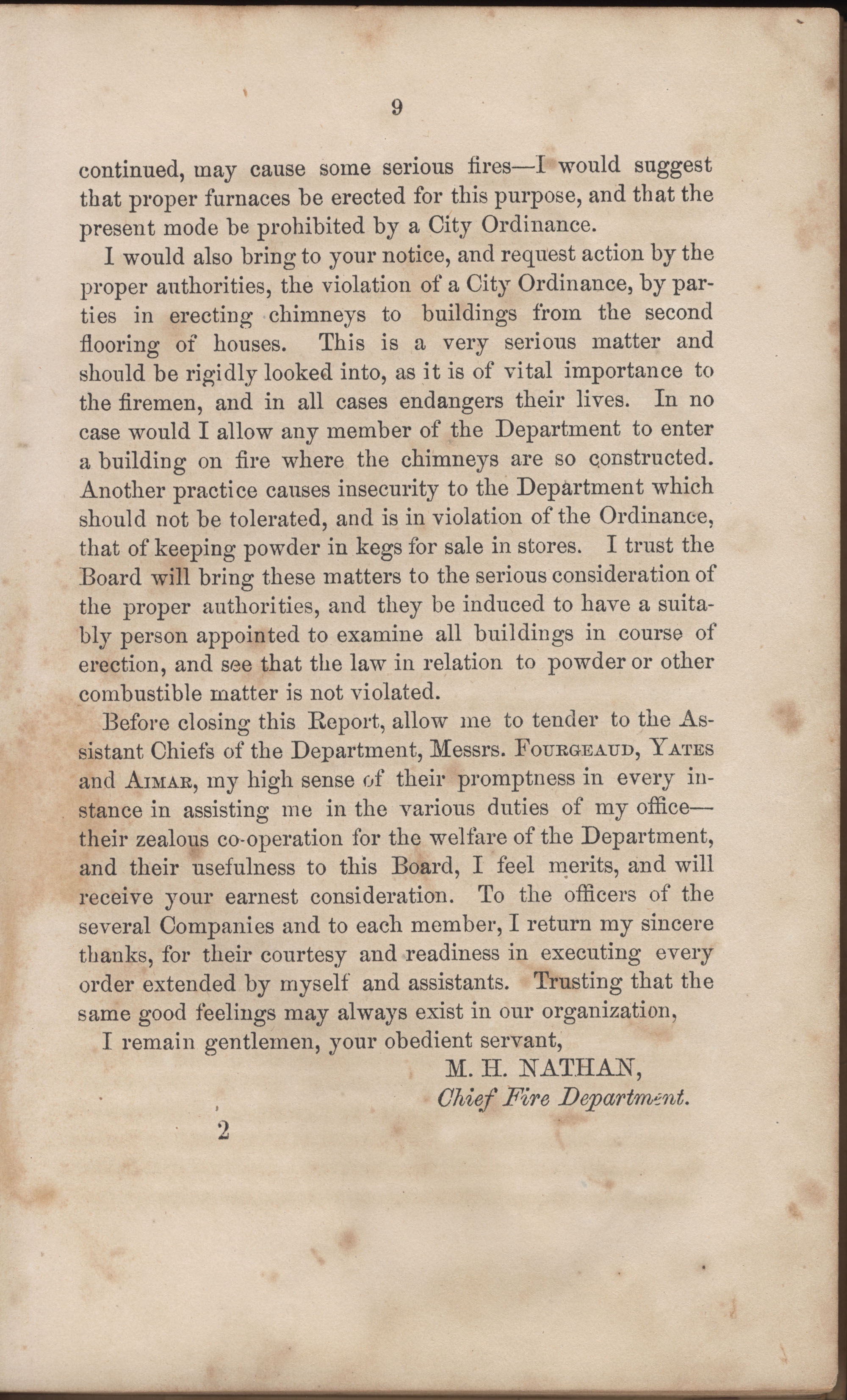 Annual Report of the Chief of the Fire Department of the City of Charleston, page 35