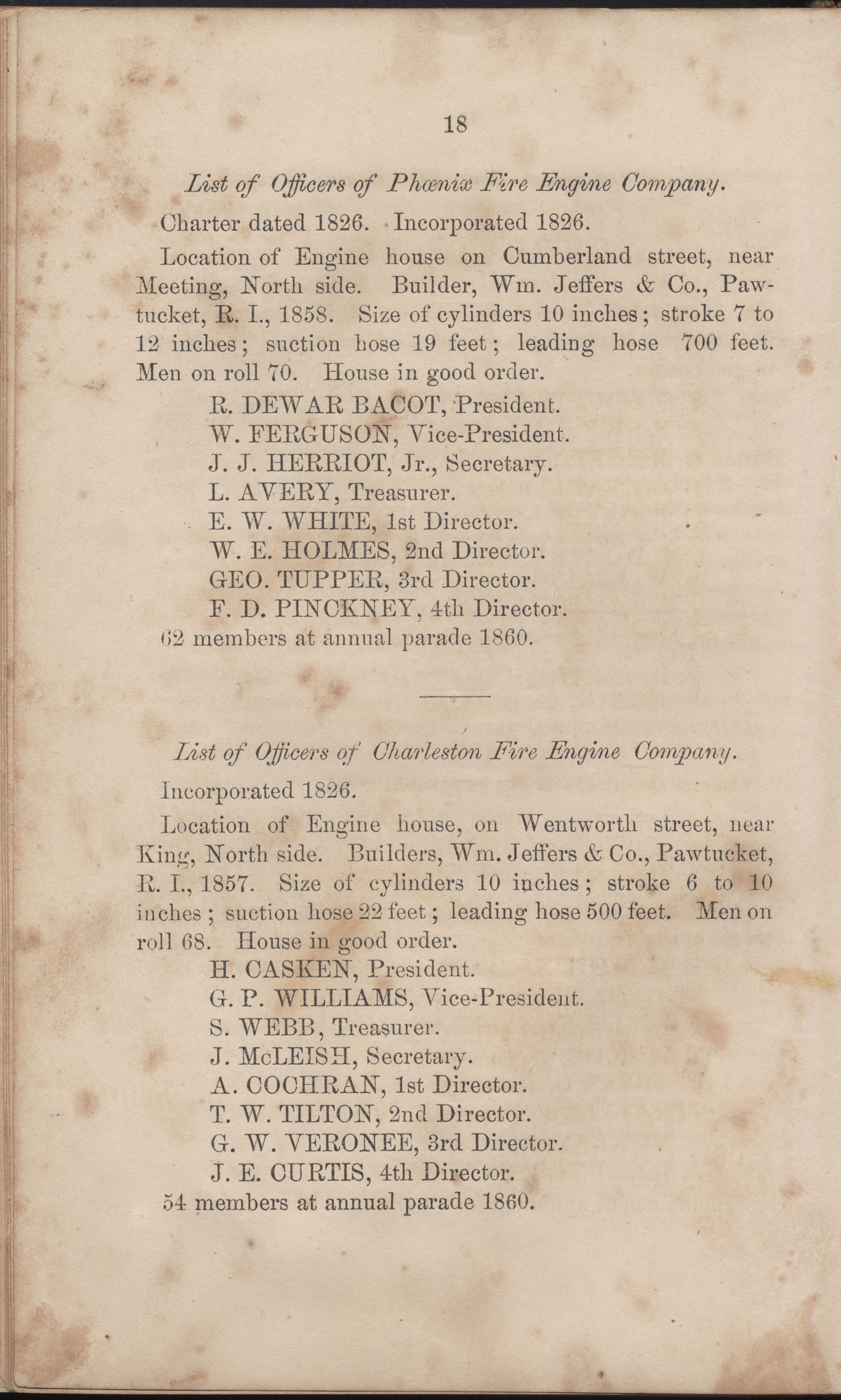 Annual Report of the Chief of the Fire Department of the City of Charleston, page 44