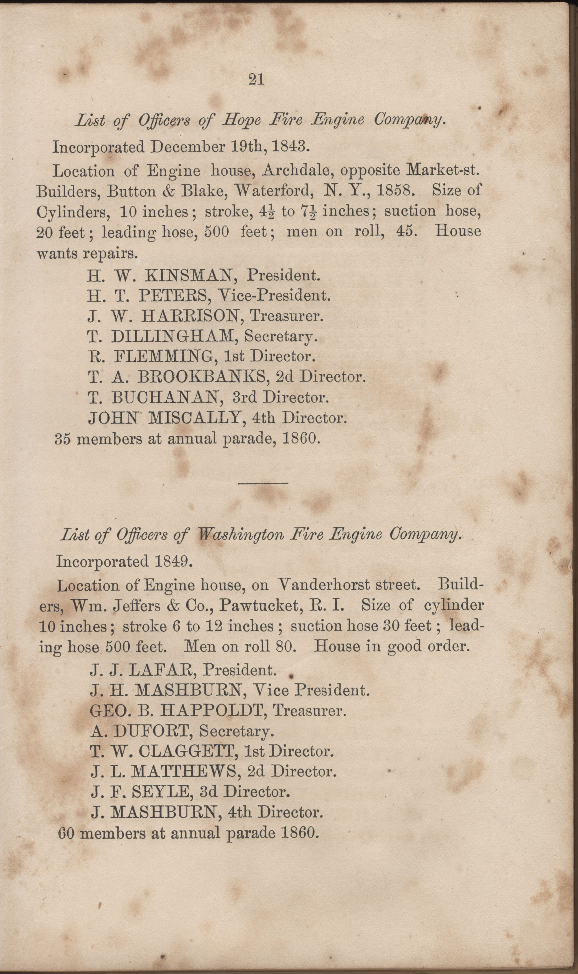Annual Report of the Chief of the Fire Department of the City of Charleston, page 47