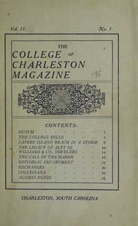 College of Charleston Magazine, 1907-1908
