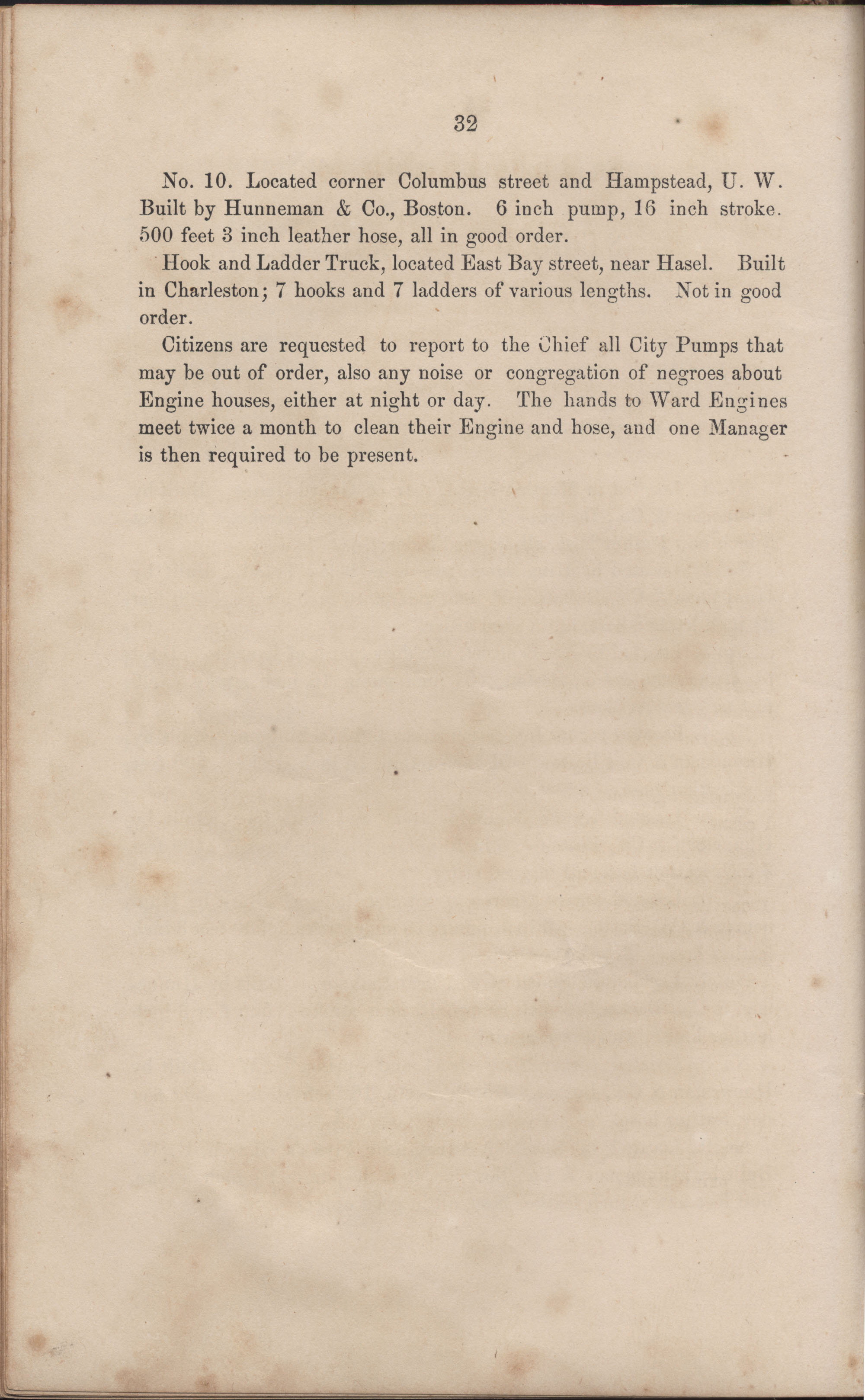 Annual Report of the Chief of the Fire Department of the City of Charleston, page 58
