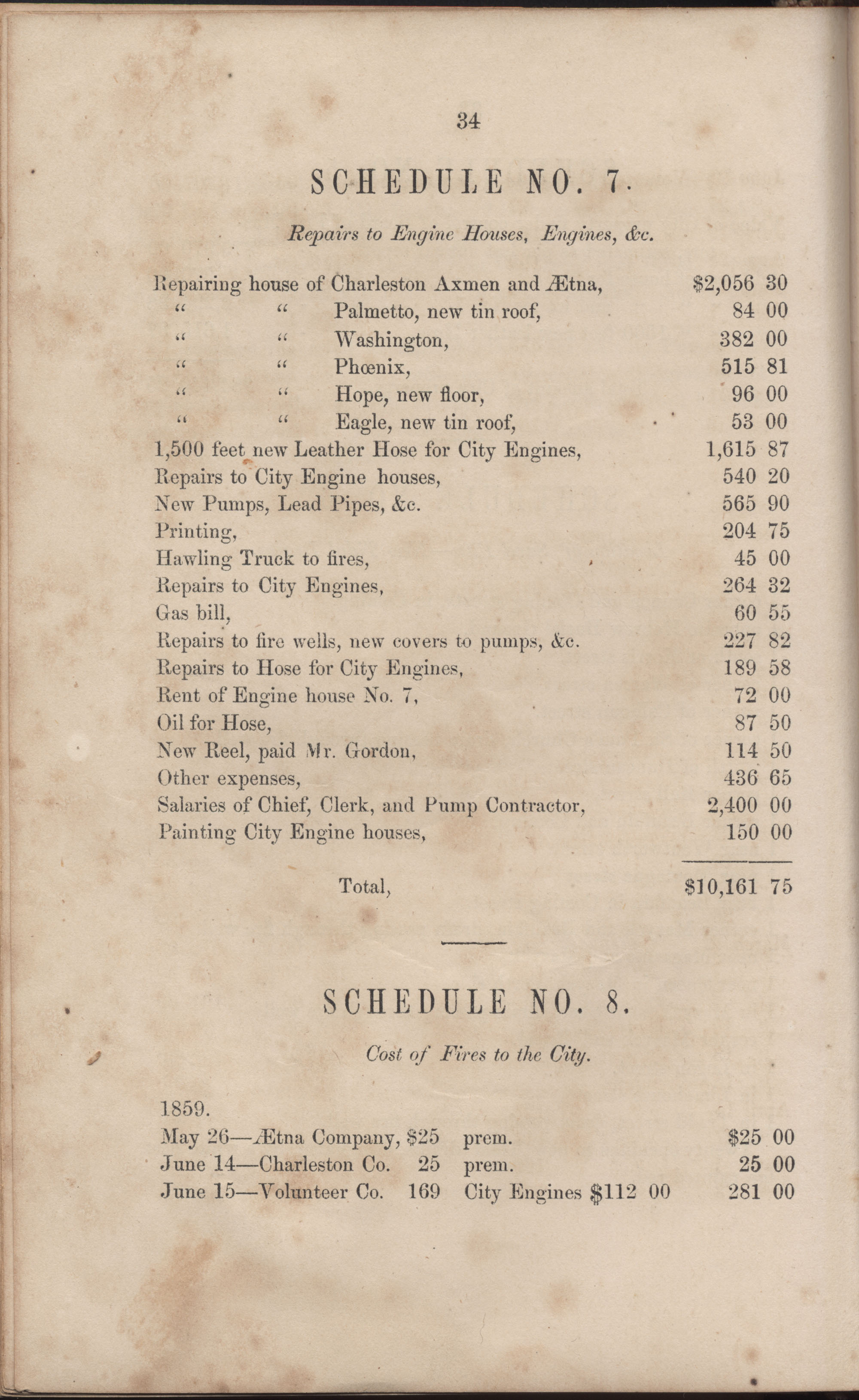 Annual Report of the Chief of the Fire Department of the City of Charleston, page 60