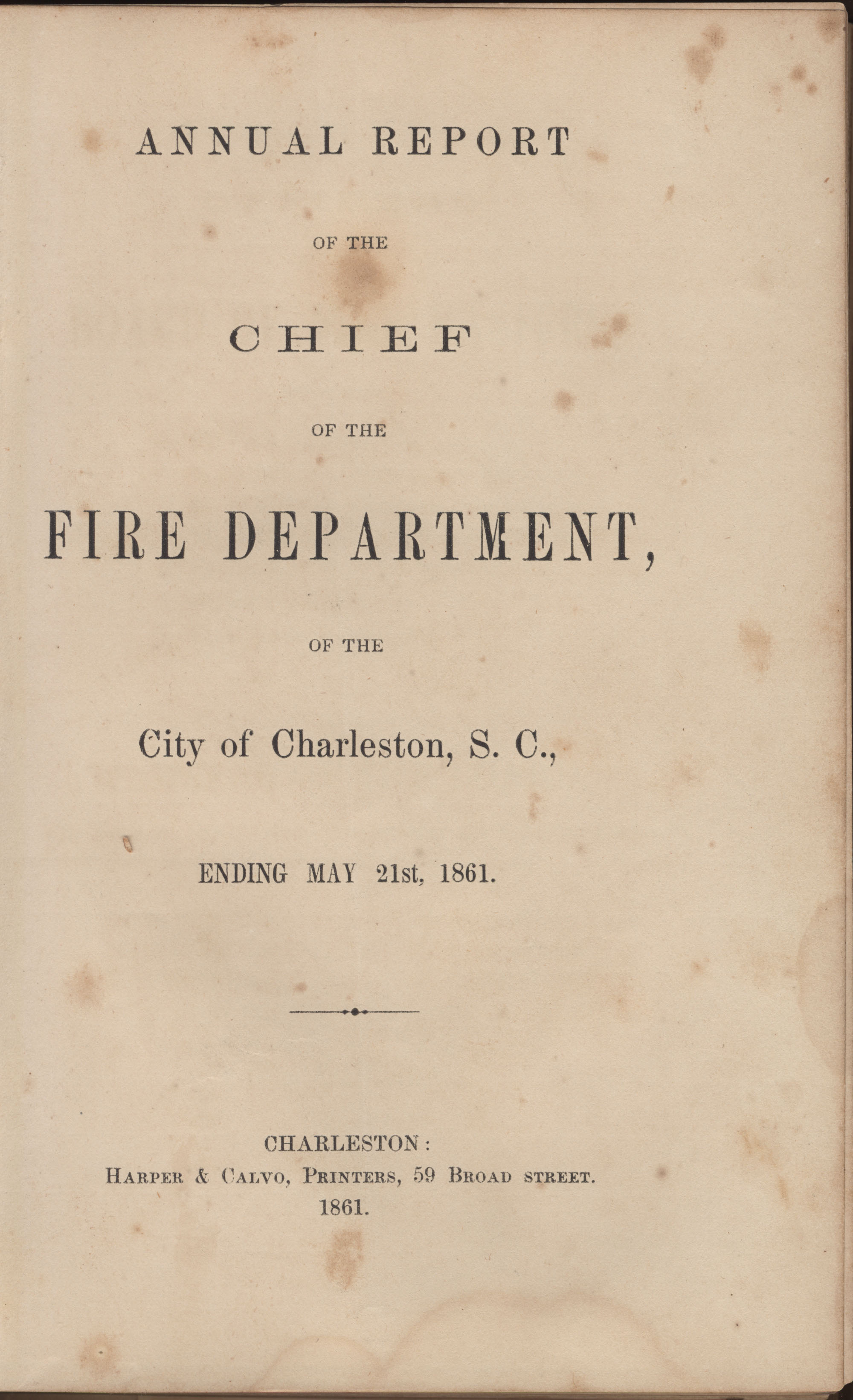 Annual Report of the Chief of the Fire Department of the City of Charleston, page 64