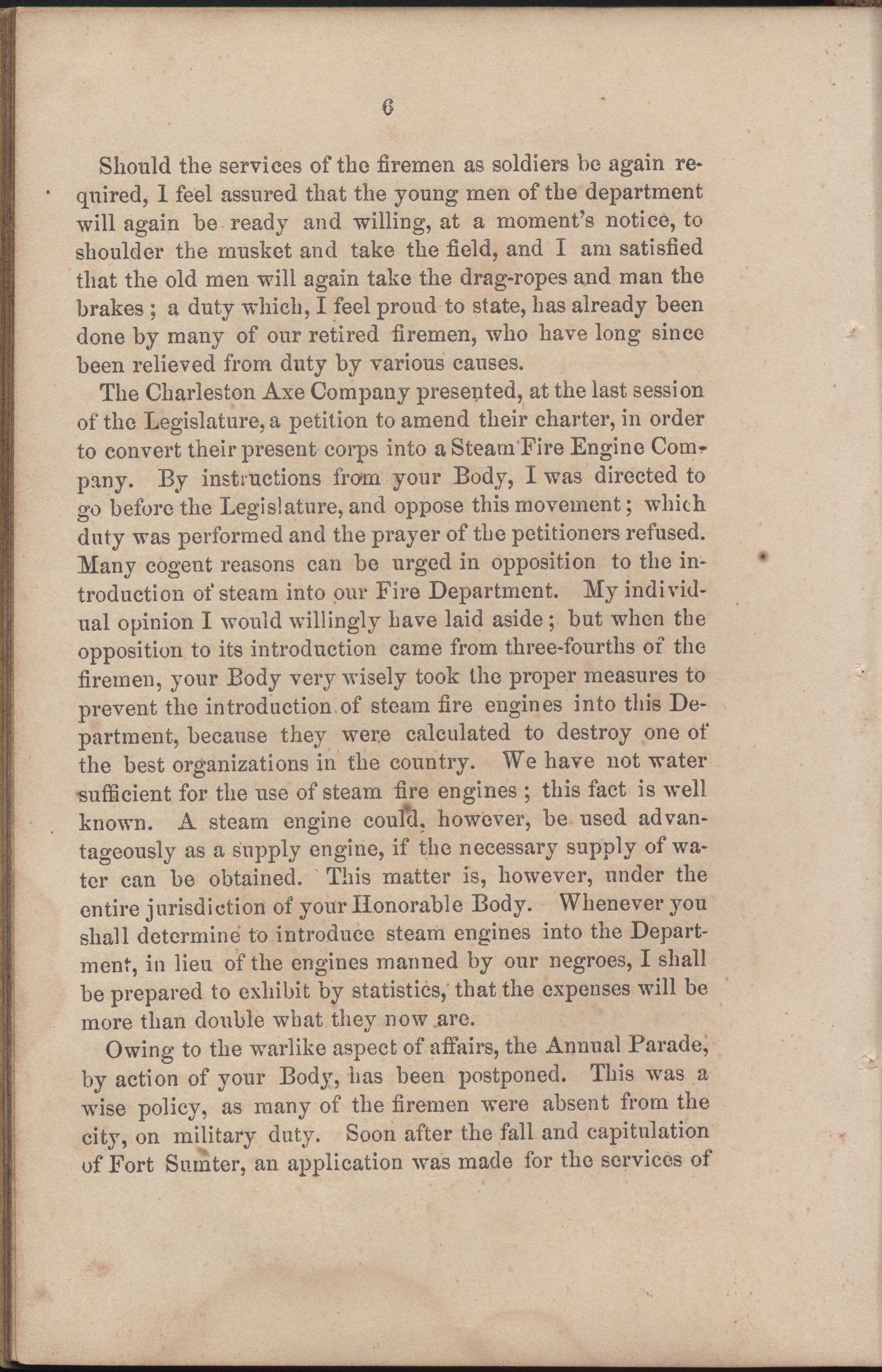 Annual Report of the Chief of the Fire Department of the City of Charleston, page 67