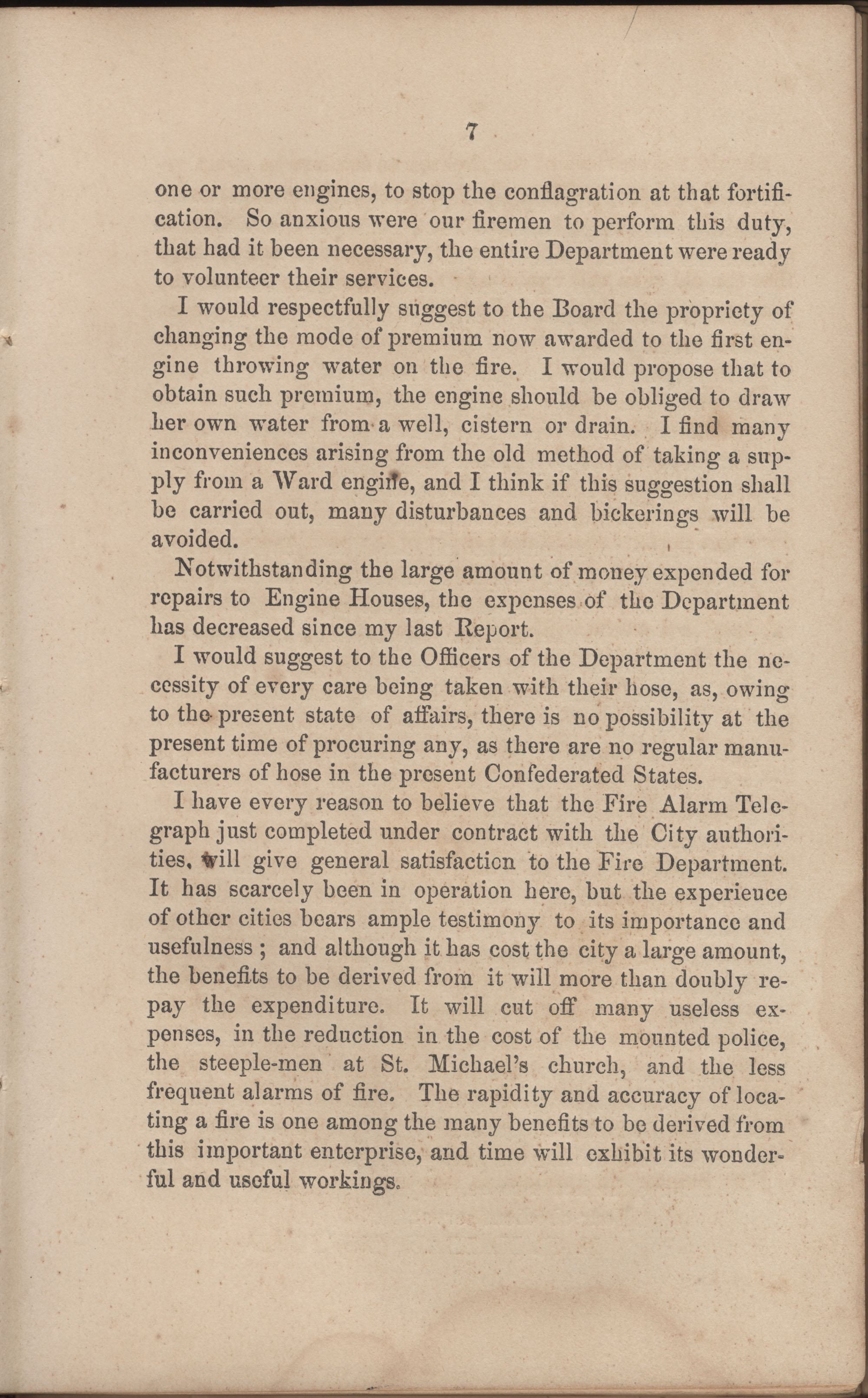 Annual Report of the Chief of the Fire Department of the City of Charleston, page 68