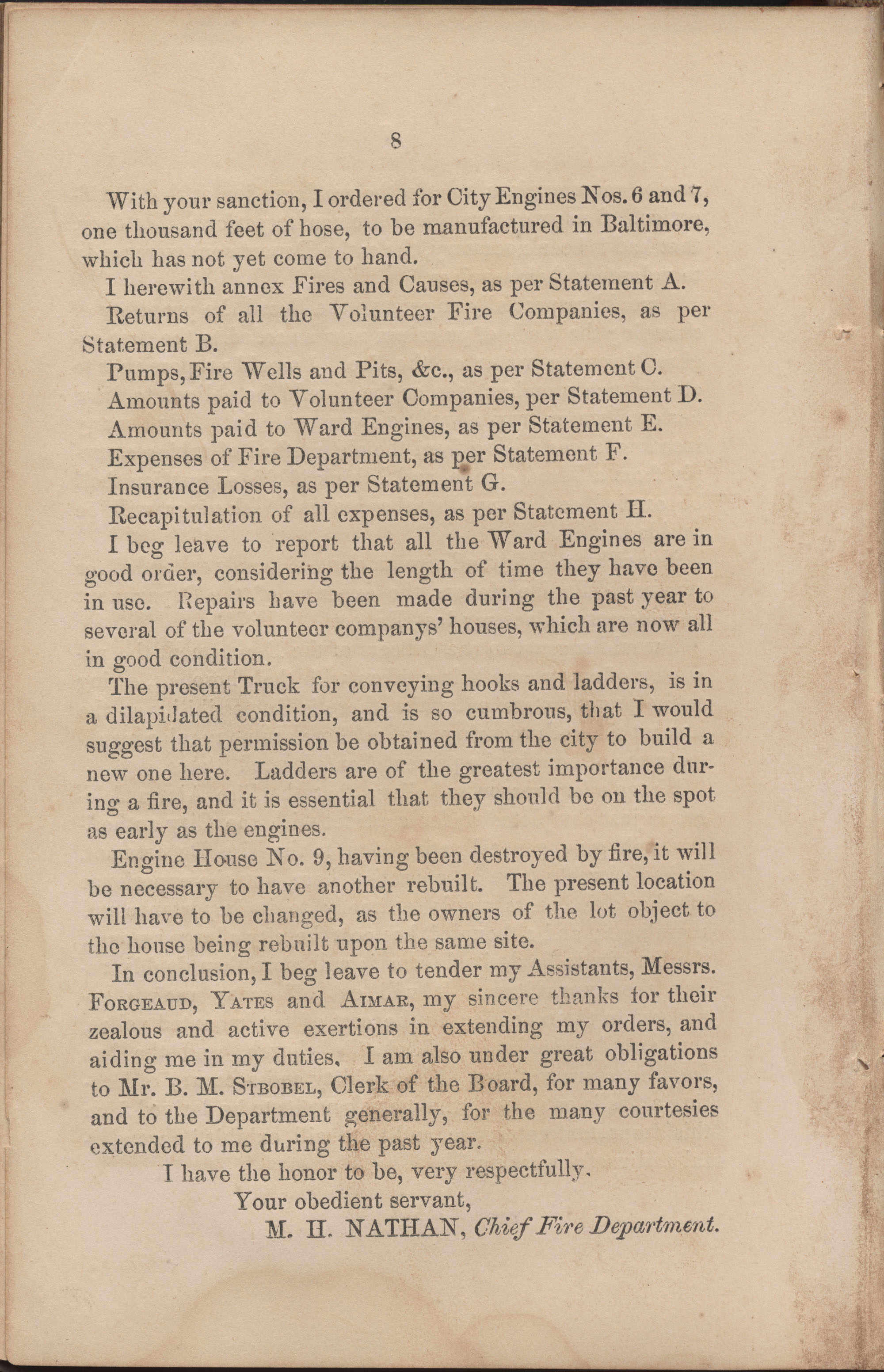 Annual Report of the Chief of the Fire Department of the City of Charleston, page 69