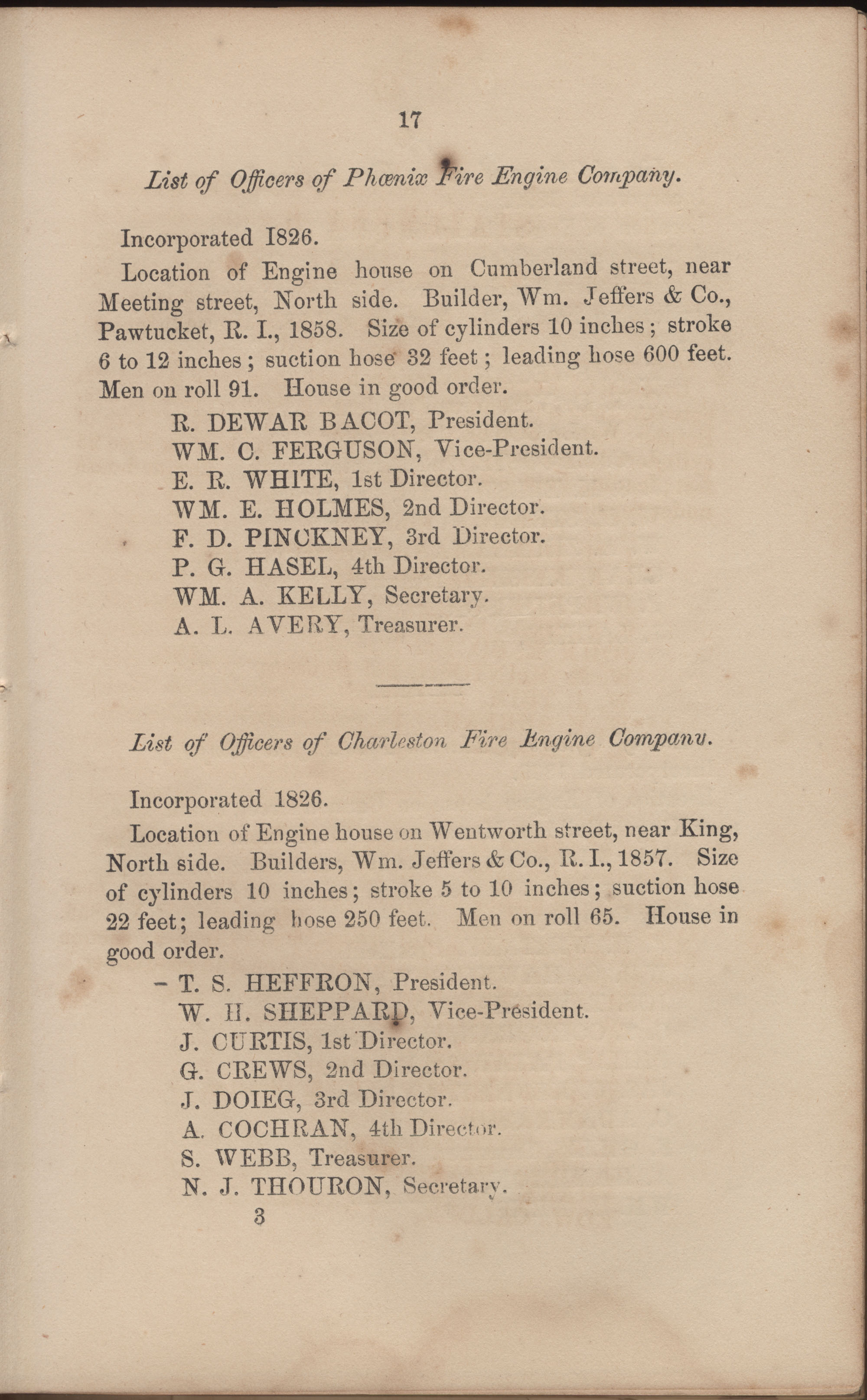 Annual Report of the Chief of the Fire Department of the City of Charleston, page 78