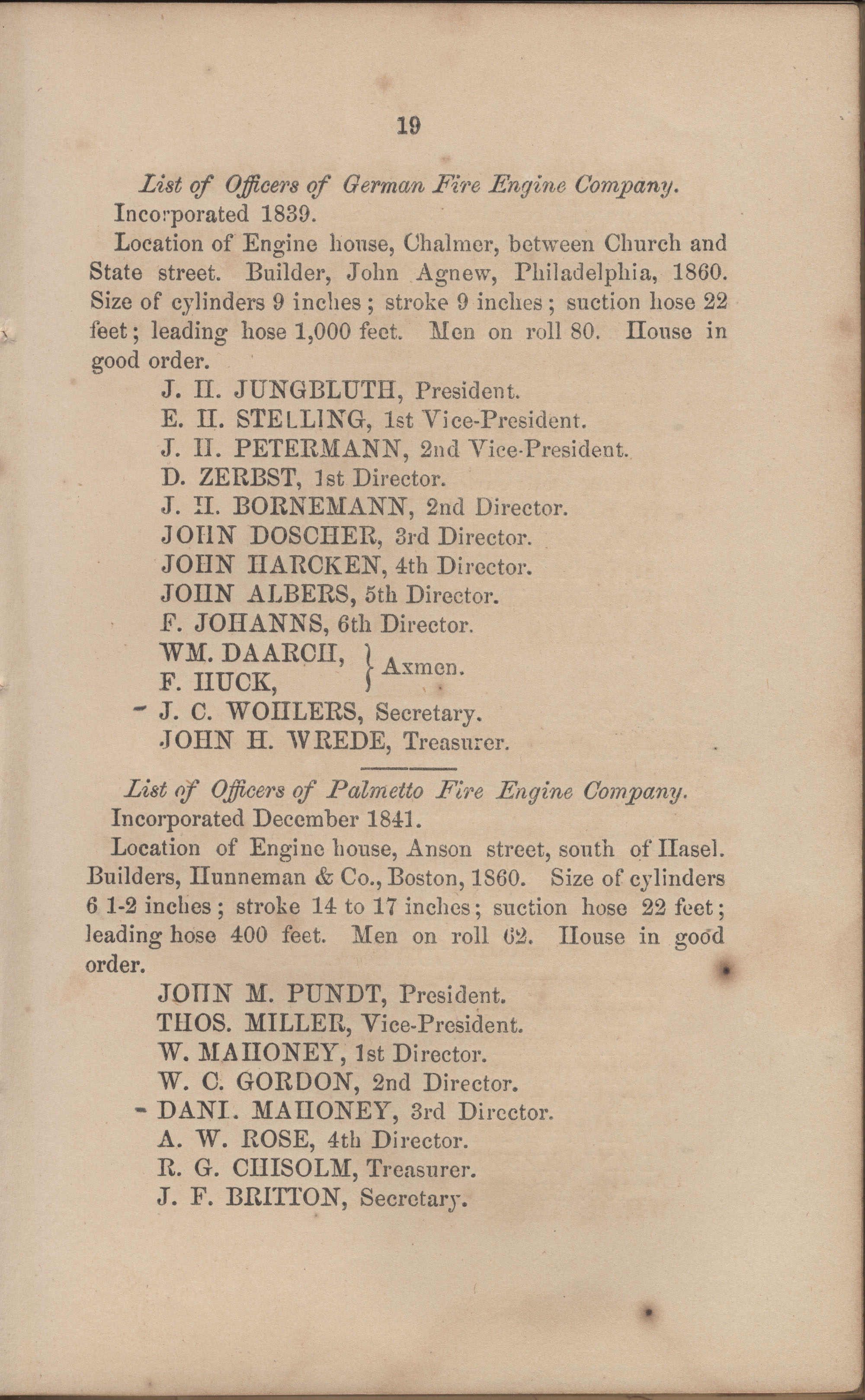 Annual Report of the Chief of the Fire Department of the City of Charleston, page 80