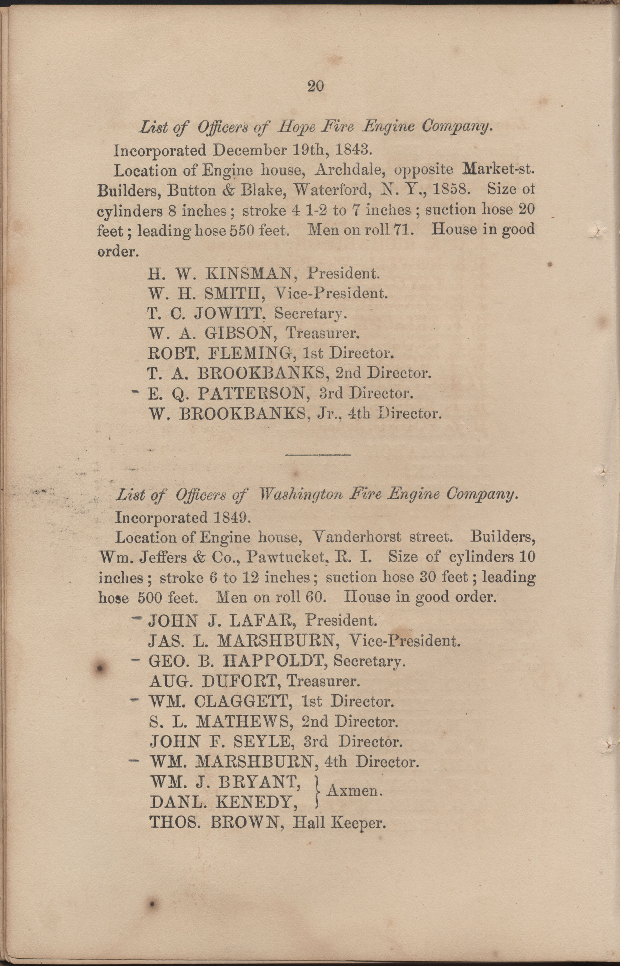Annual Report of the Chief of the Fire Department of the City of Charleston, page 81
