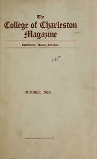 College of Charleston Magazine, 1910-1911