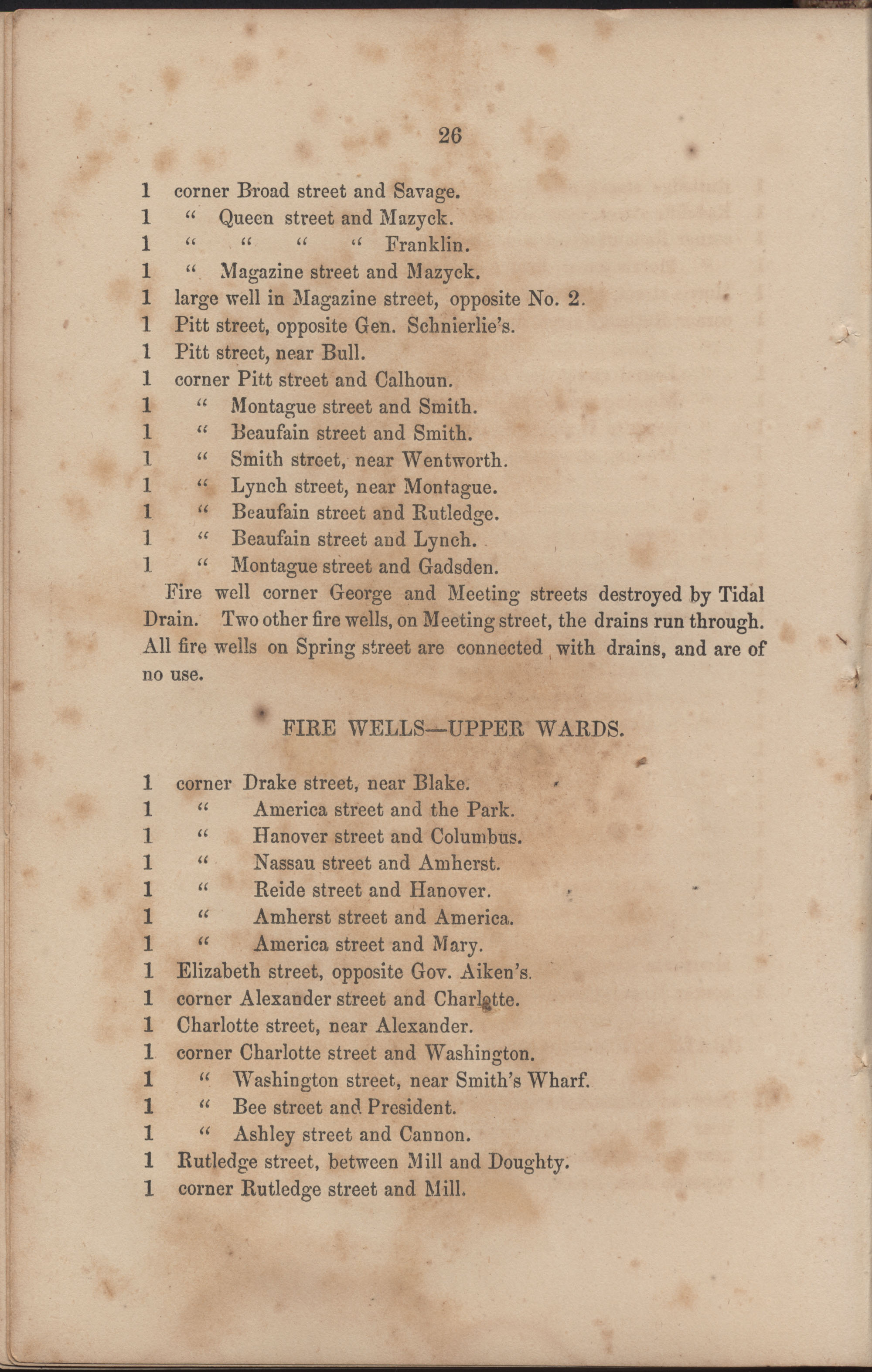 Annual Report of the Chief of the Fire Department of the City of Charleston, page 87