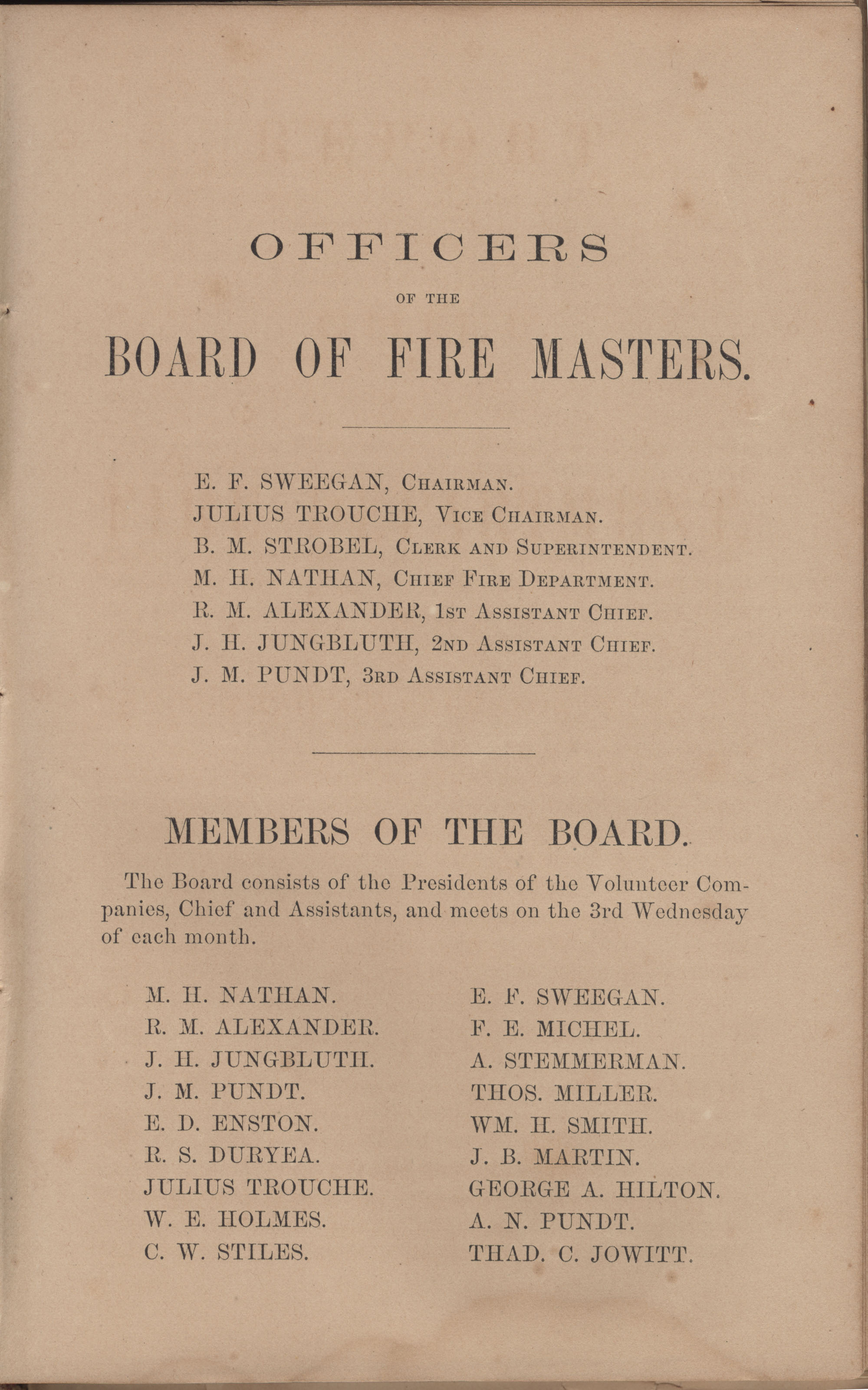 Annual Report of the Chief of the Fire Department of the City of Charleston, page 100