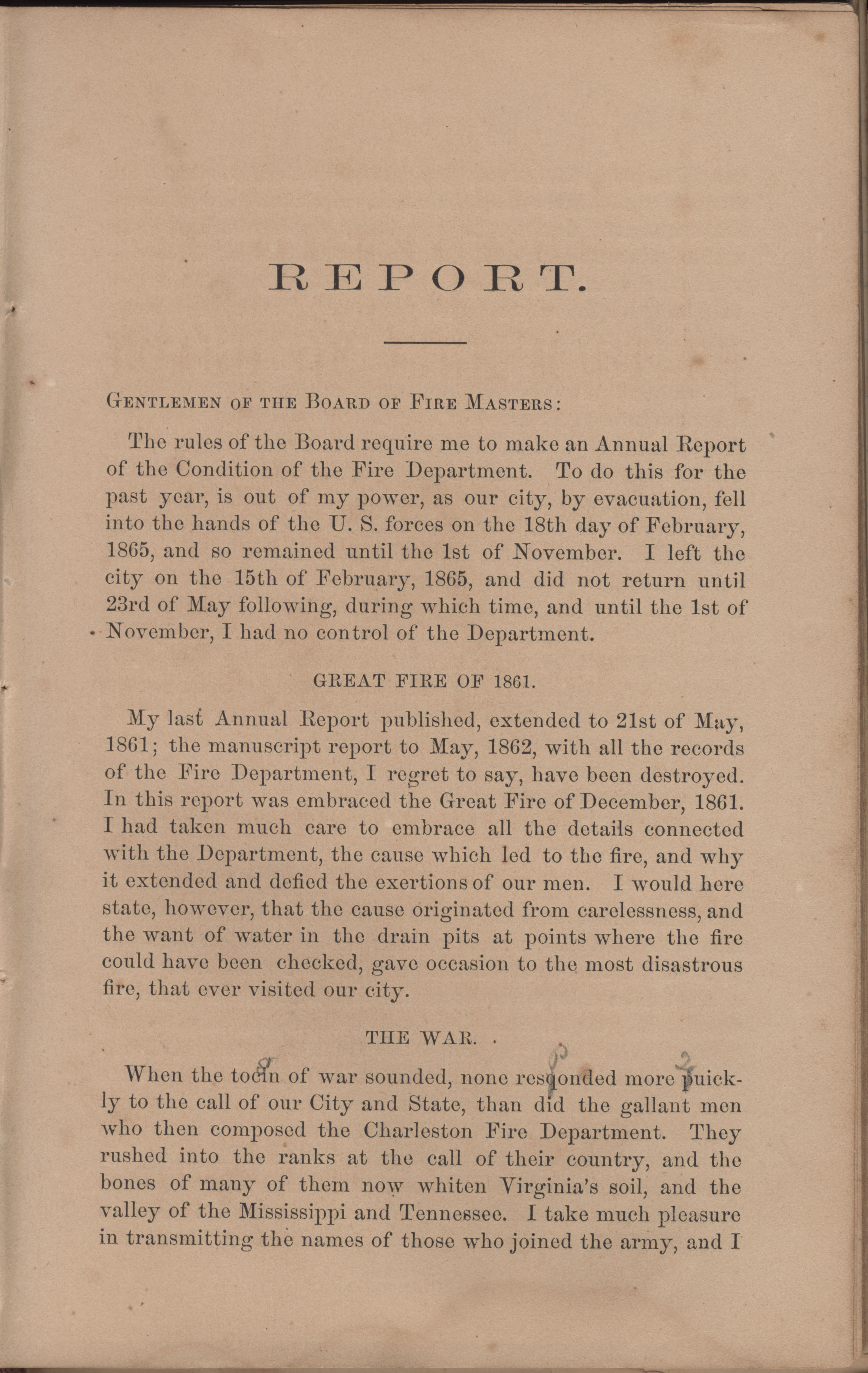 Annual Report of the Chief of the Fire Department of the City of Charleston, page 101