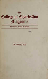 College of Charleston Magazine, 1912-1913