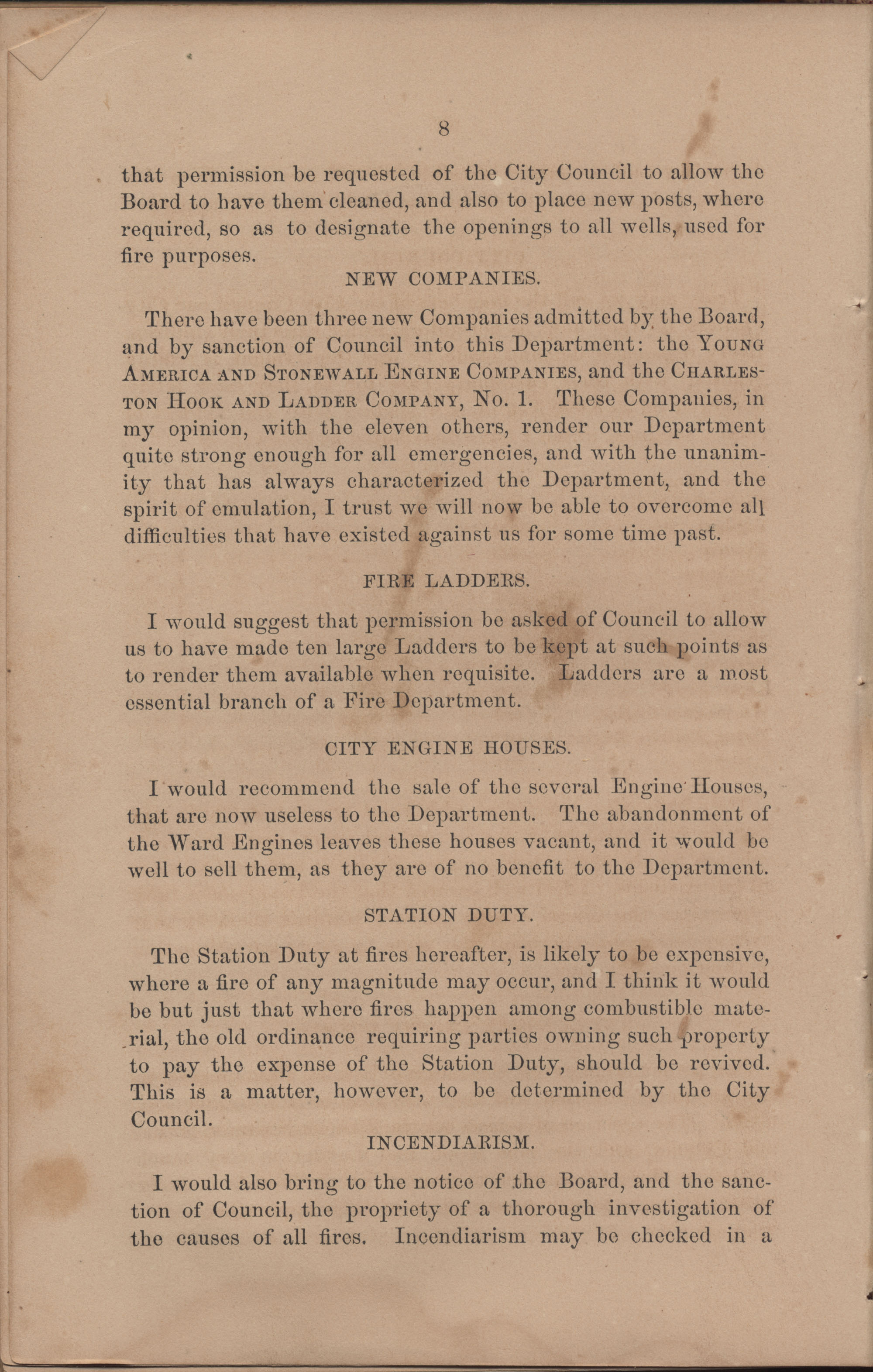 Annual Report of the Chief of the Fire Department of the City of Charleston, page 104