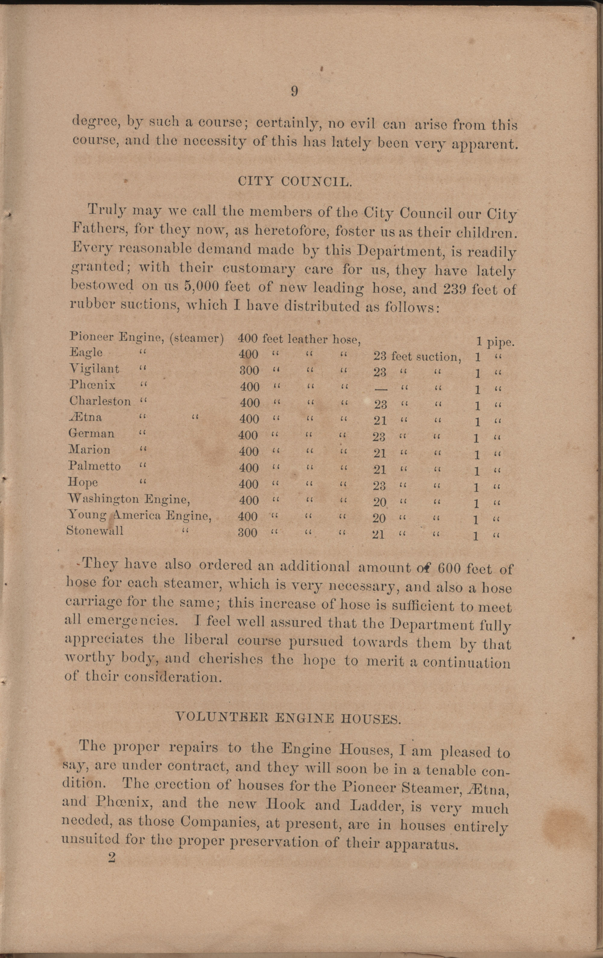 Annual Report of the Chief of the Fire Department of the City of Charleston, page 105