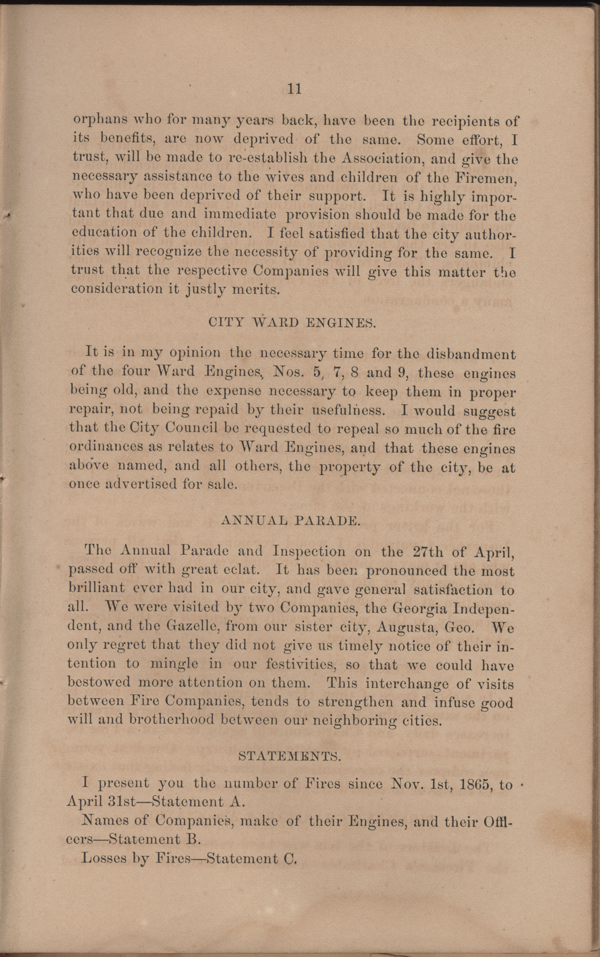 Annual Report of the Chief of the Fire Department of the City of Charleston, page 107