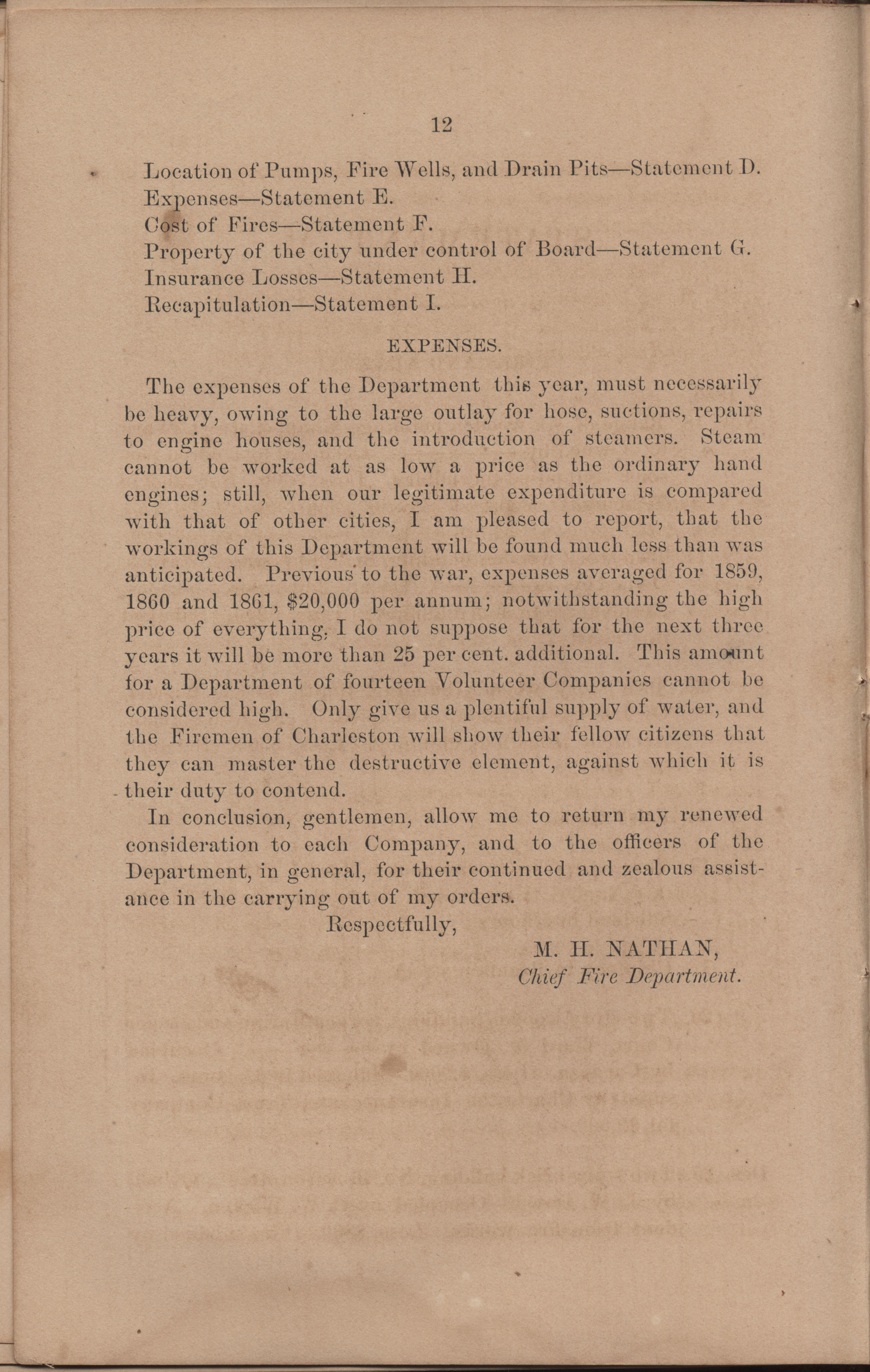 Annual Report of the Chief of the Fire Department of the City of Charleston, page 108