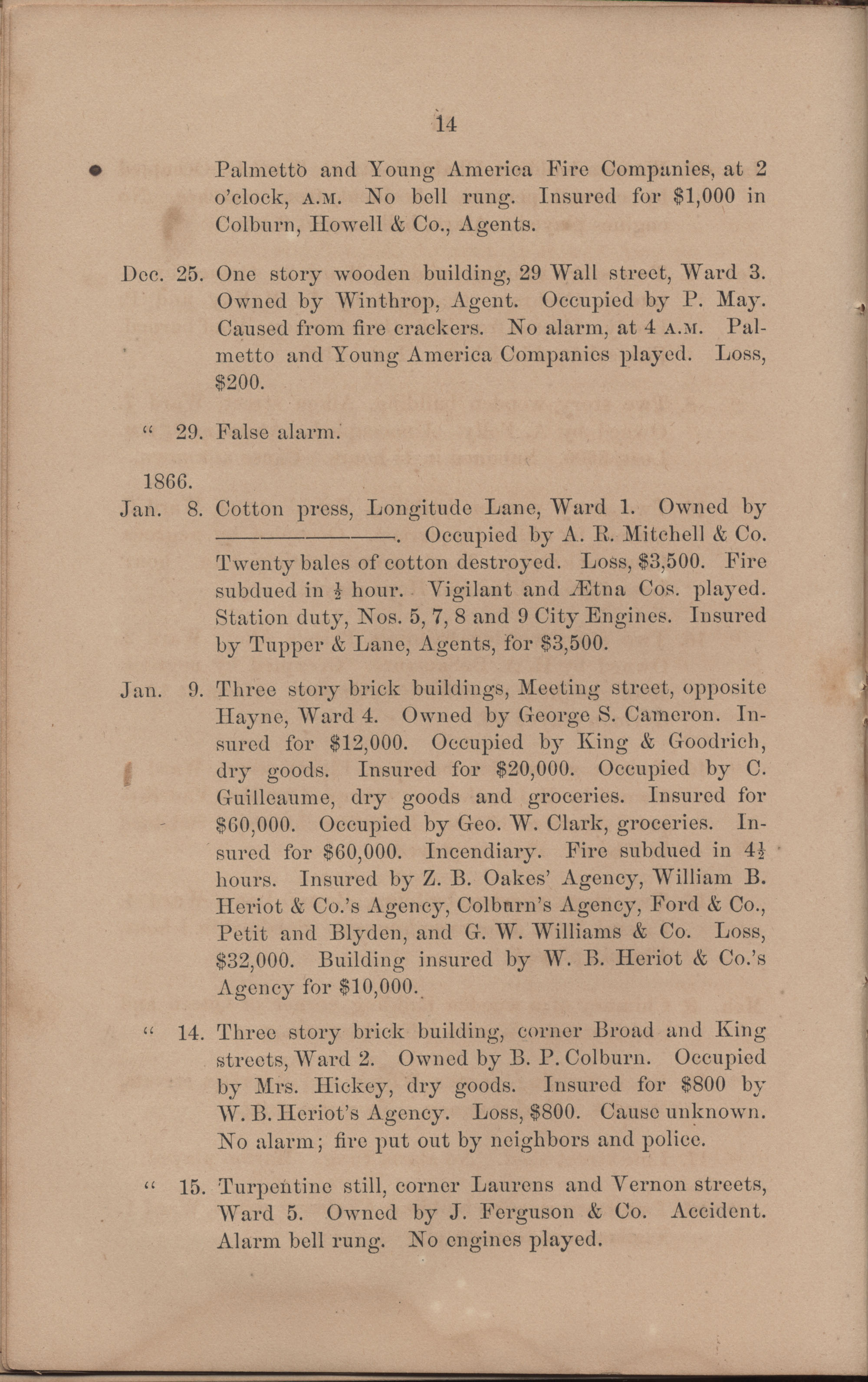 Annual Report of the Chief of the Fire Department of the City of Charleston, page 110