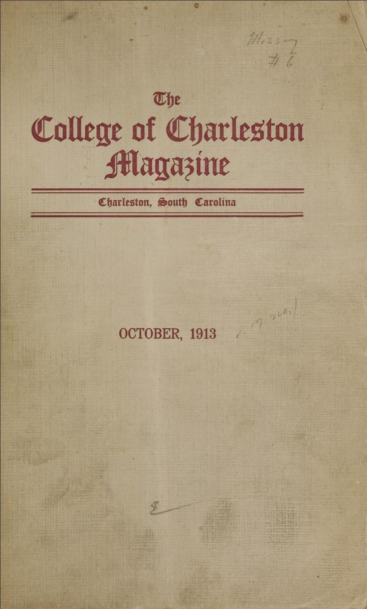College of Charleston Magazine, 1913-1914