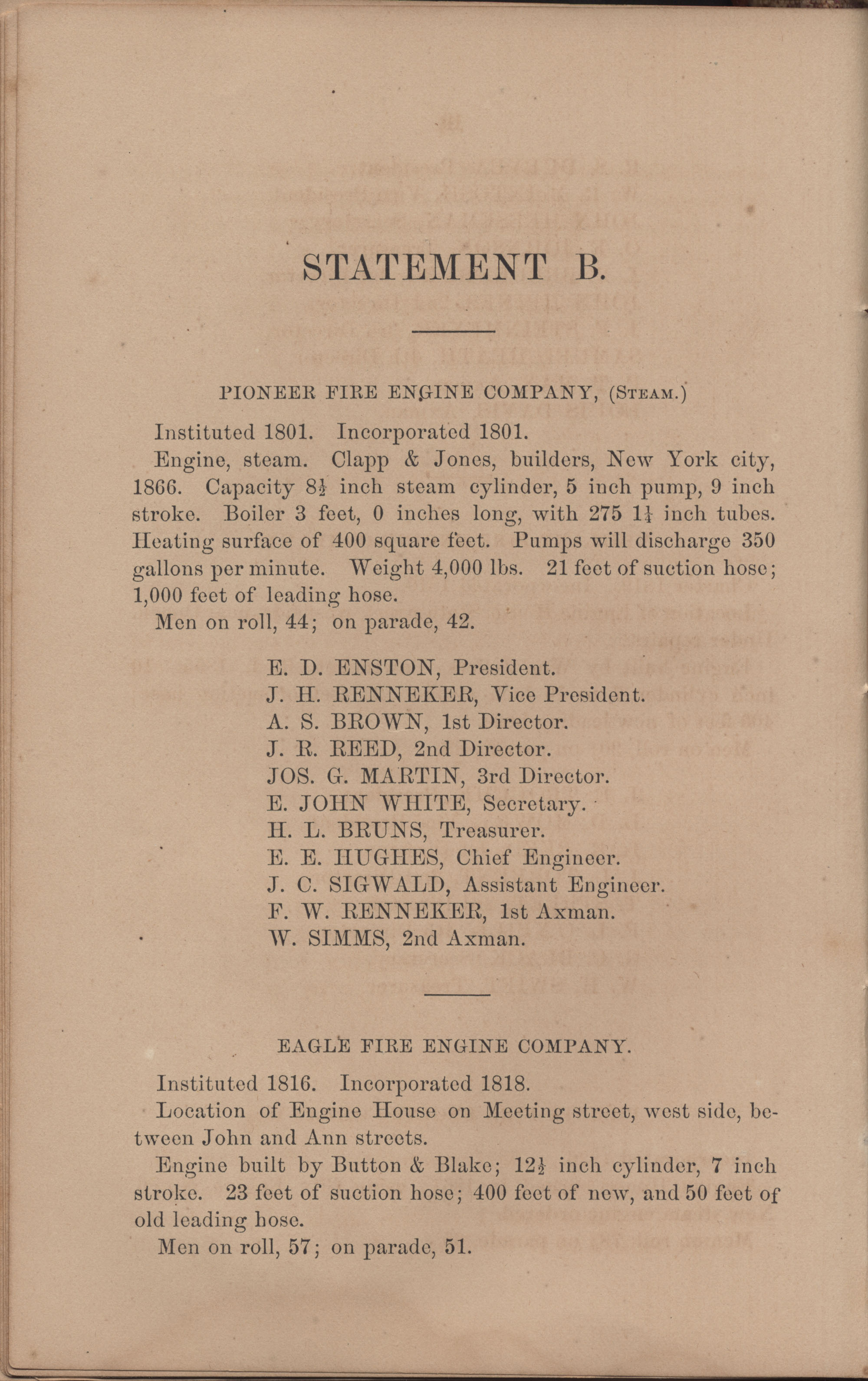 Annual Report of the Chief of the Fire Department of the City of Charleston, page 114