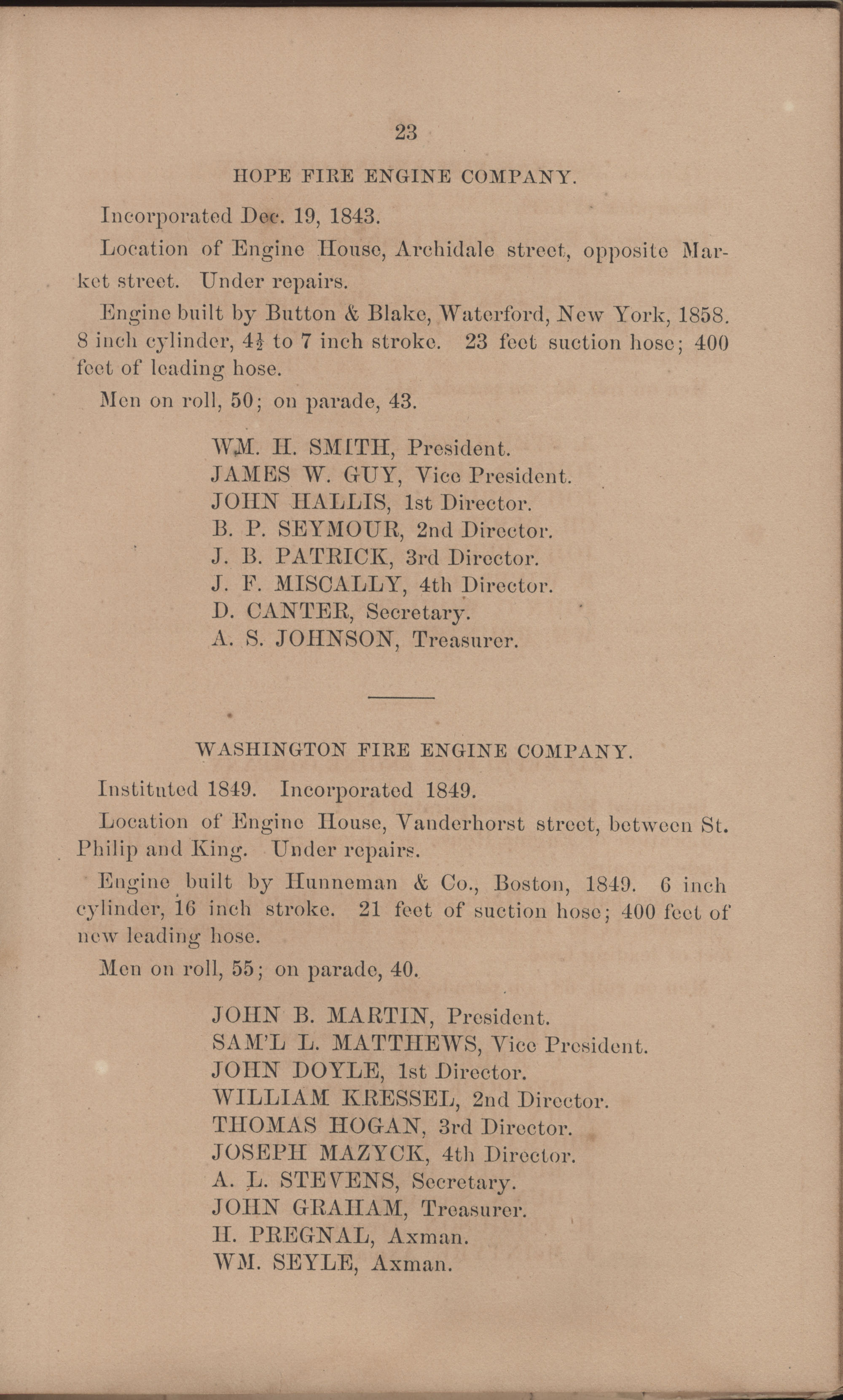 Annual Report of the Chief of the Fire Department of the City of Charleston, page 119