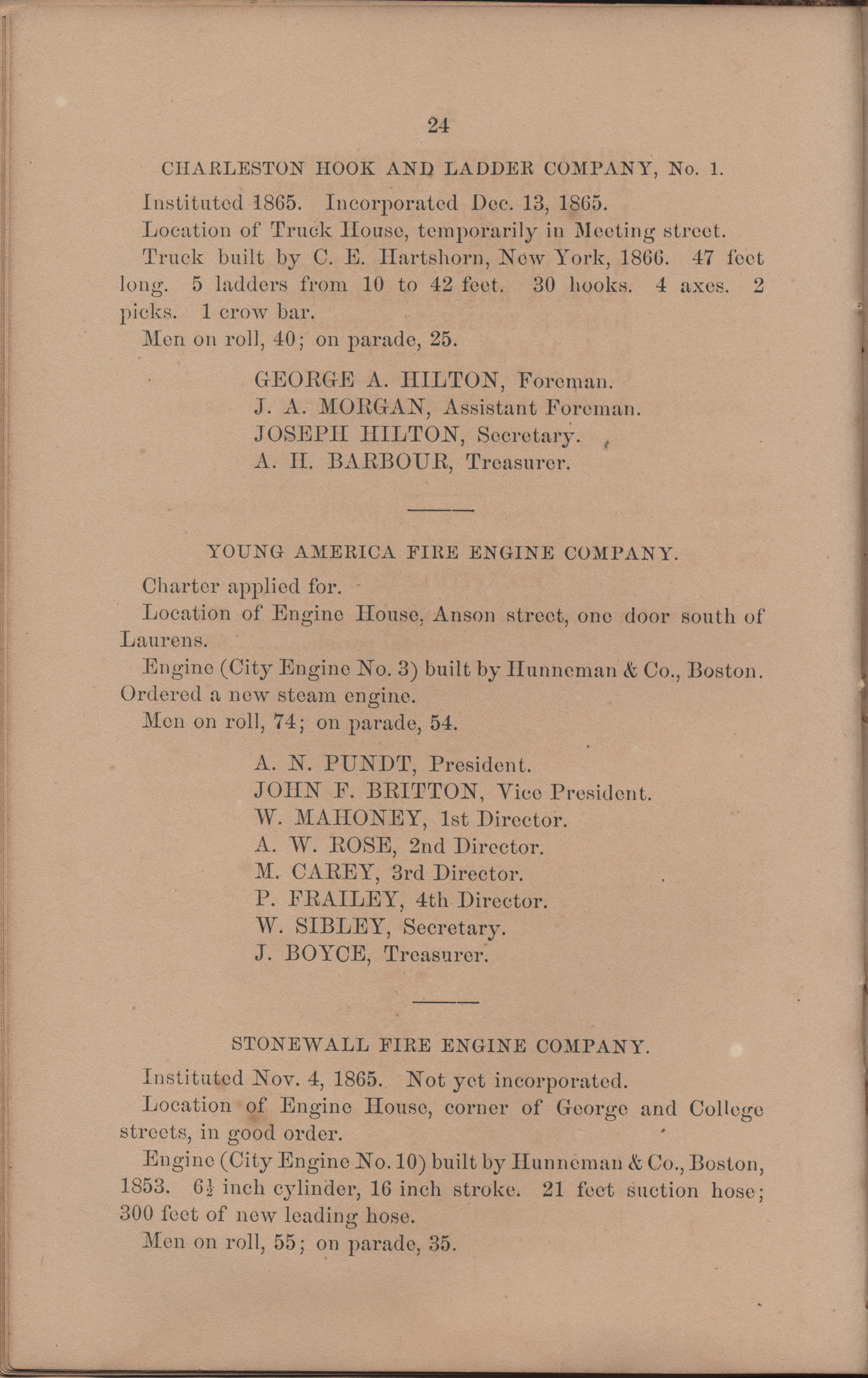 Annual Report of the Chief of the Fire Department of the City of Charleston, page 120