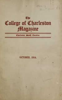 College of Charleston Magazine, 1914-1915