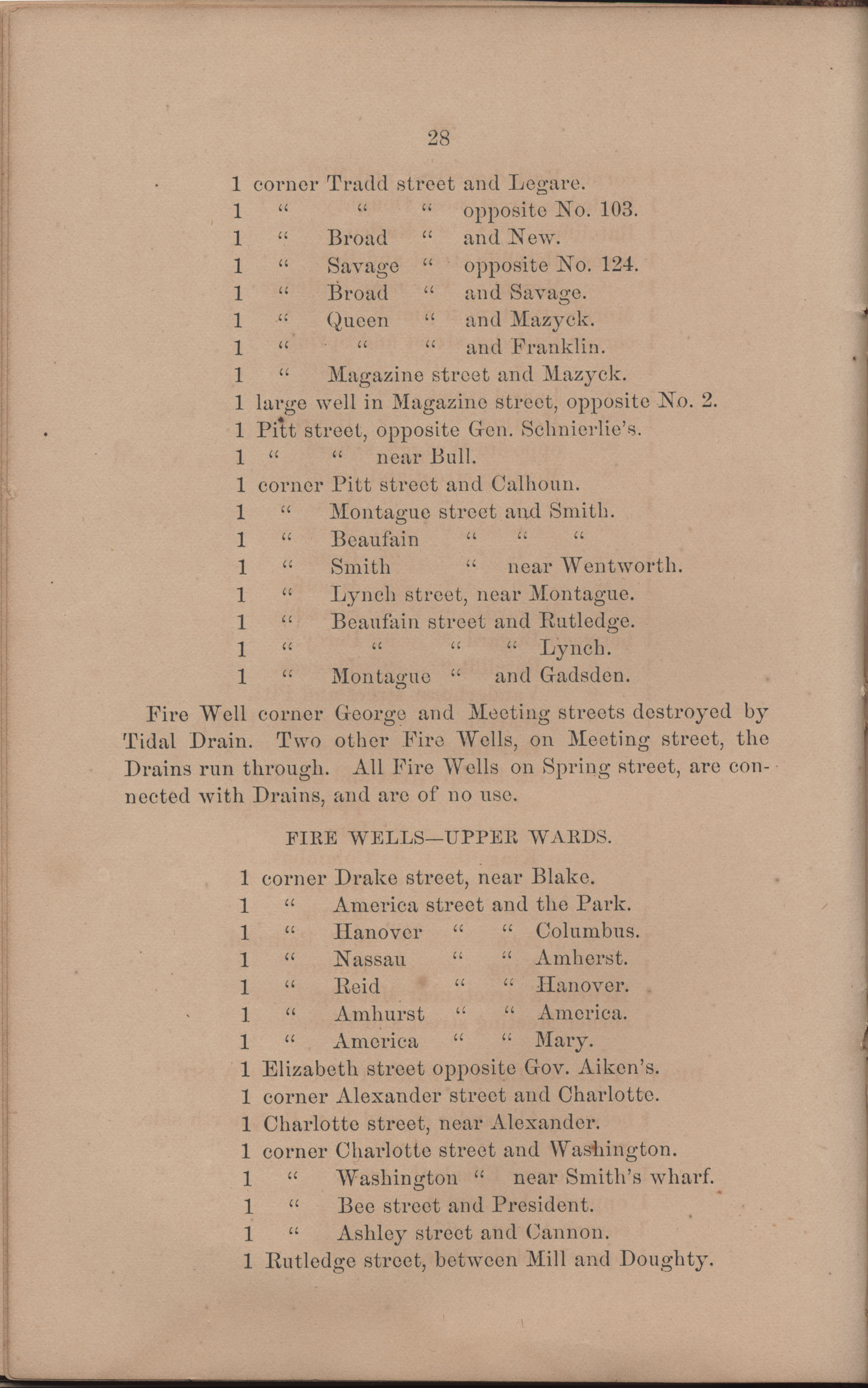 Annual Report of the Chief of the Fire Department of the City of Charleston, page 124