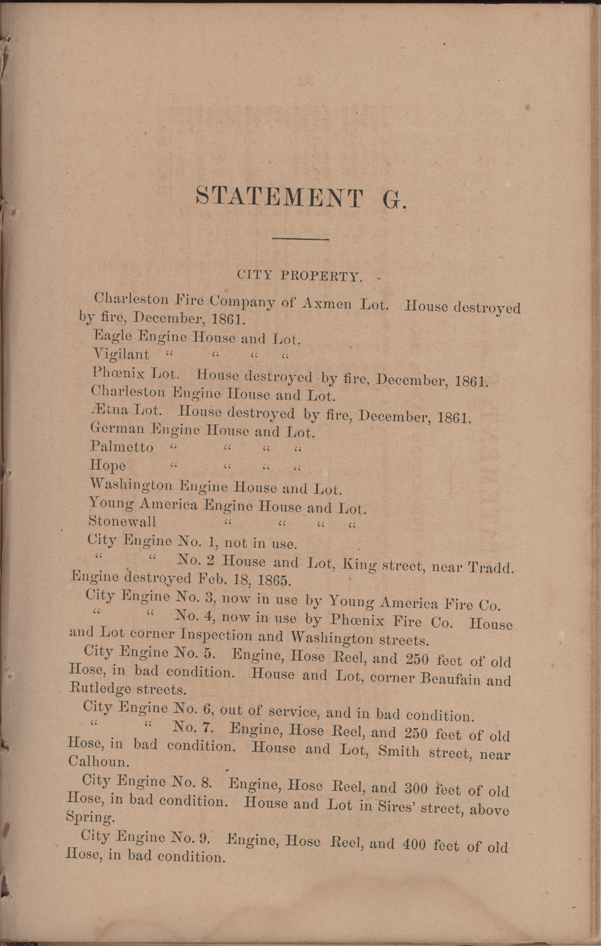 Annual Report of the Chief of the Fire Department of the City of Charleston, page 131