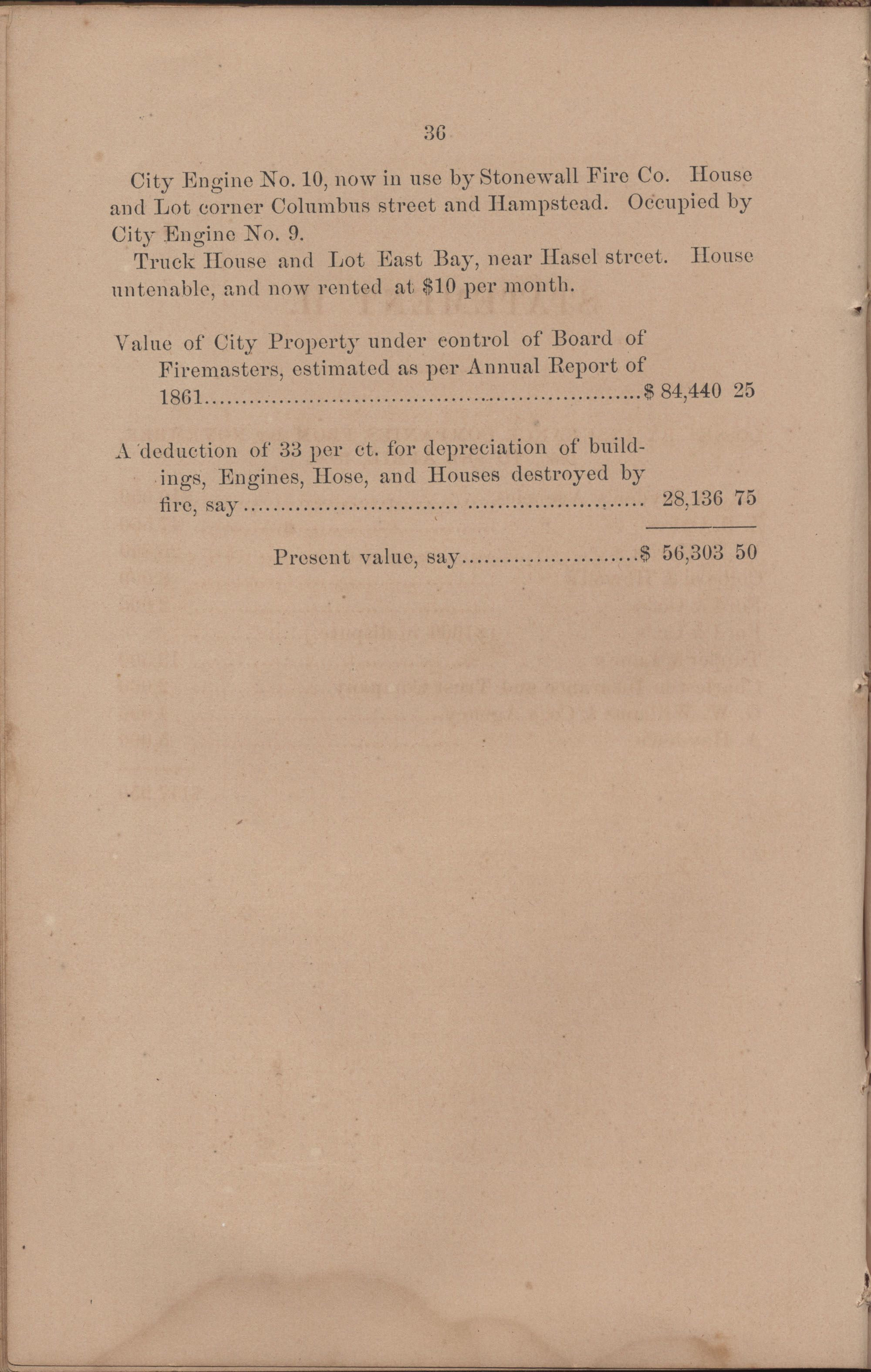 Annual Report of the Chief of the Fire Department of the City of Charleston, page 132