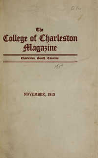 College of Charleston Magazine, 1915-1916