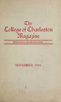 College of Charleston Magazine, 1916-1917